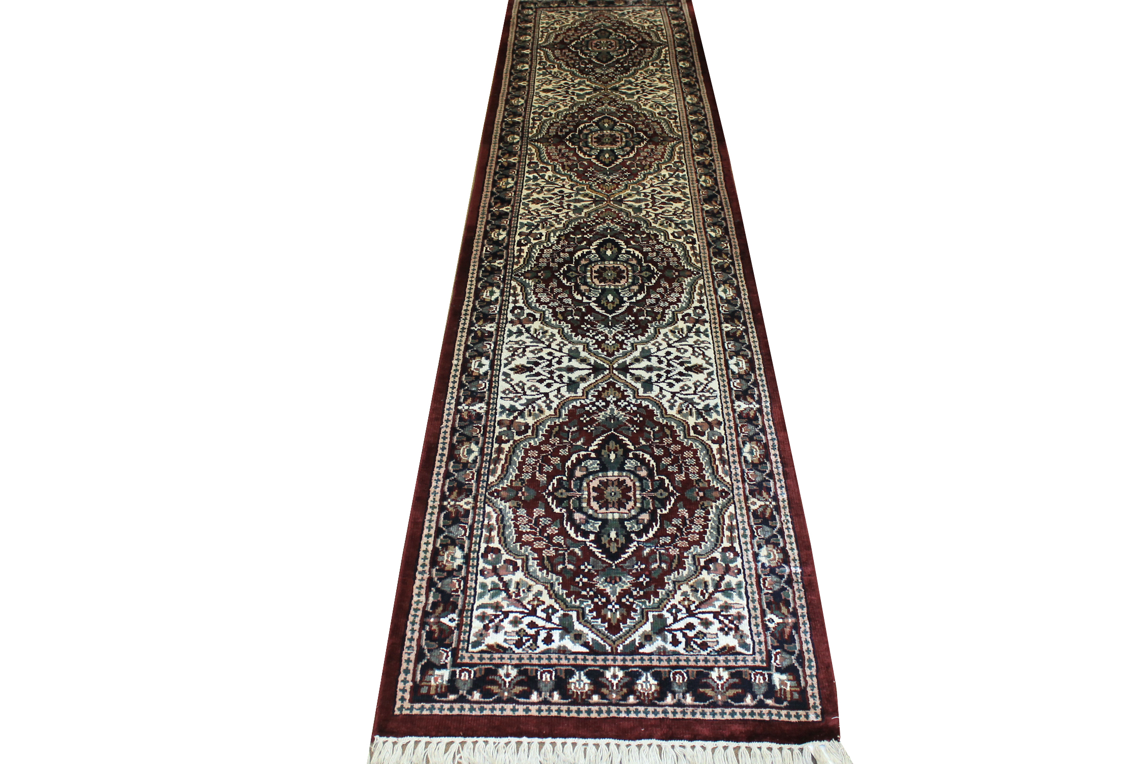 10 ft. Runner Traditional Hand Knotted Wool Area Rug - MR1099