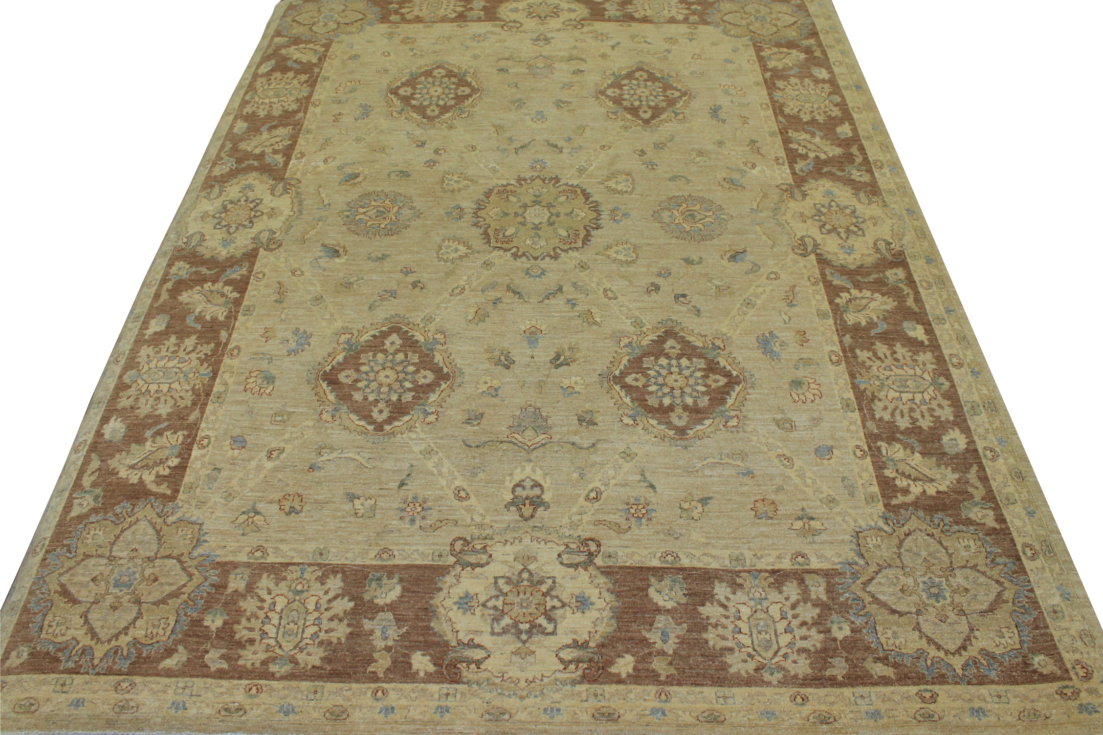 9x12 Peshawar Hand Knotted Wool Area Rug - MR11077