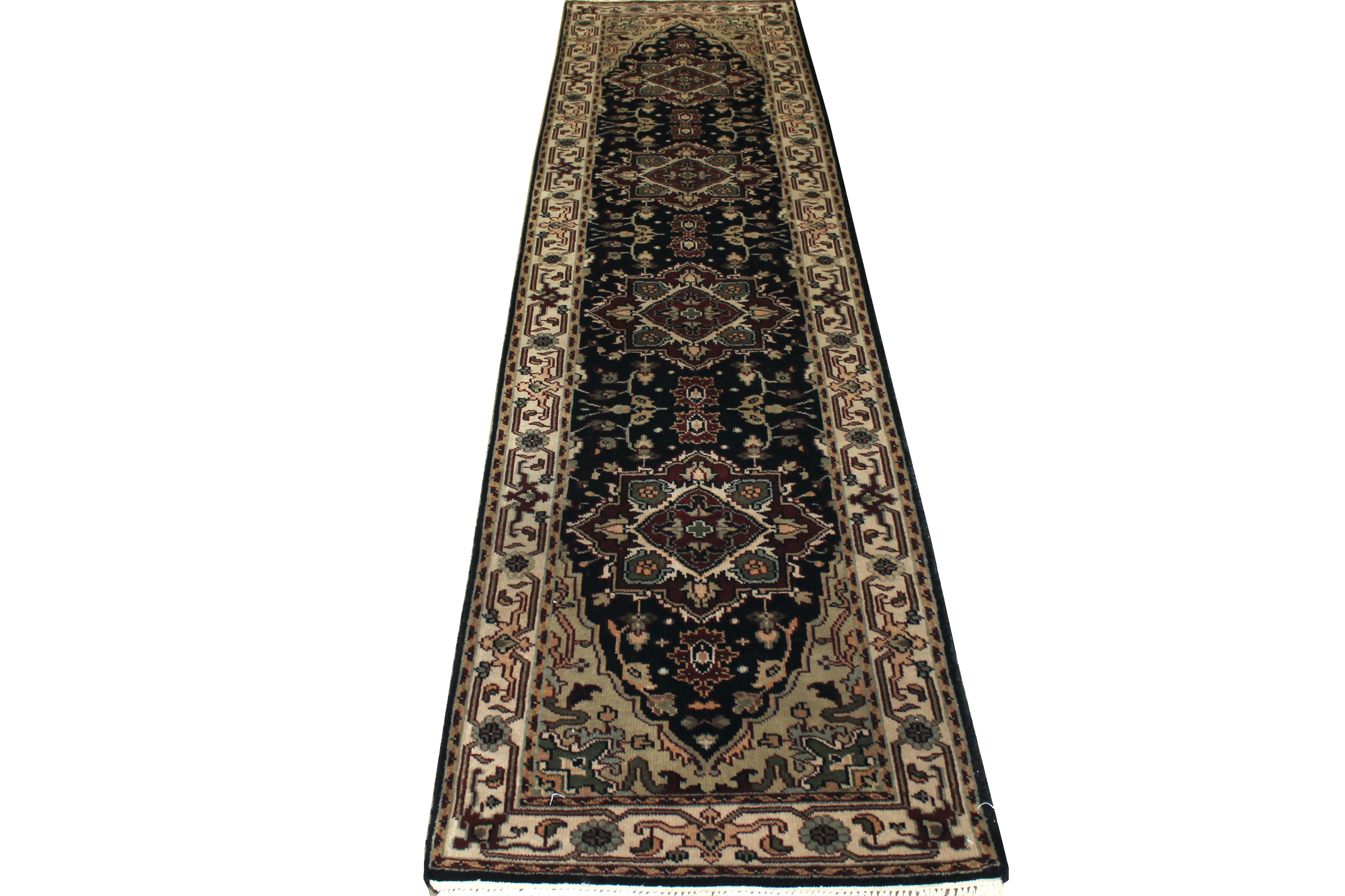 10 ft. Runner Traditional Hand Knotted Wool Area Rug - MR1110