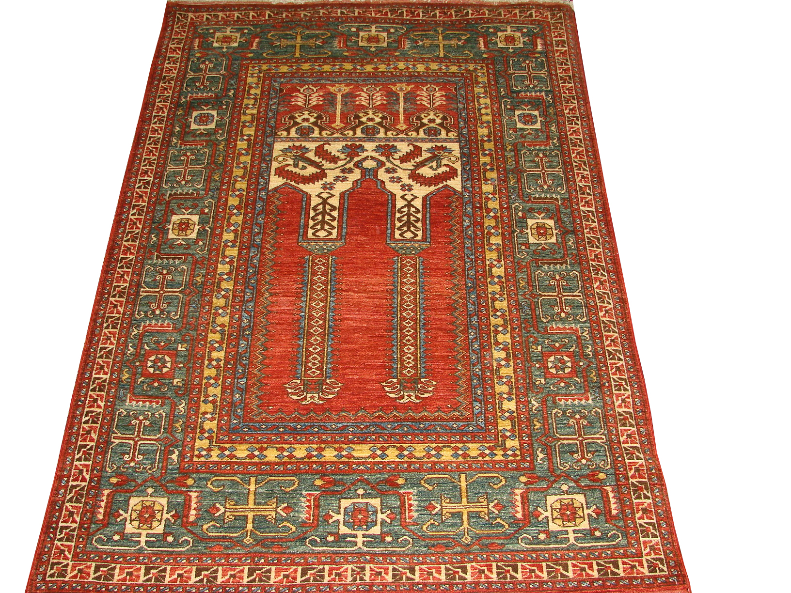 4x6 Antique Revival Hand Knotted Wool Area Rug - MR11116
