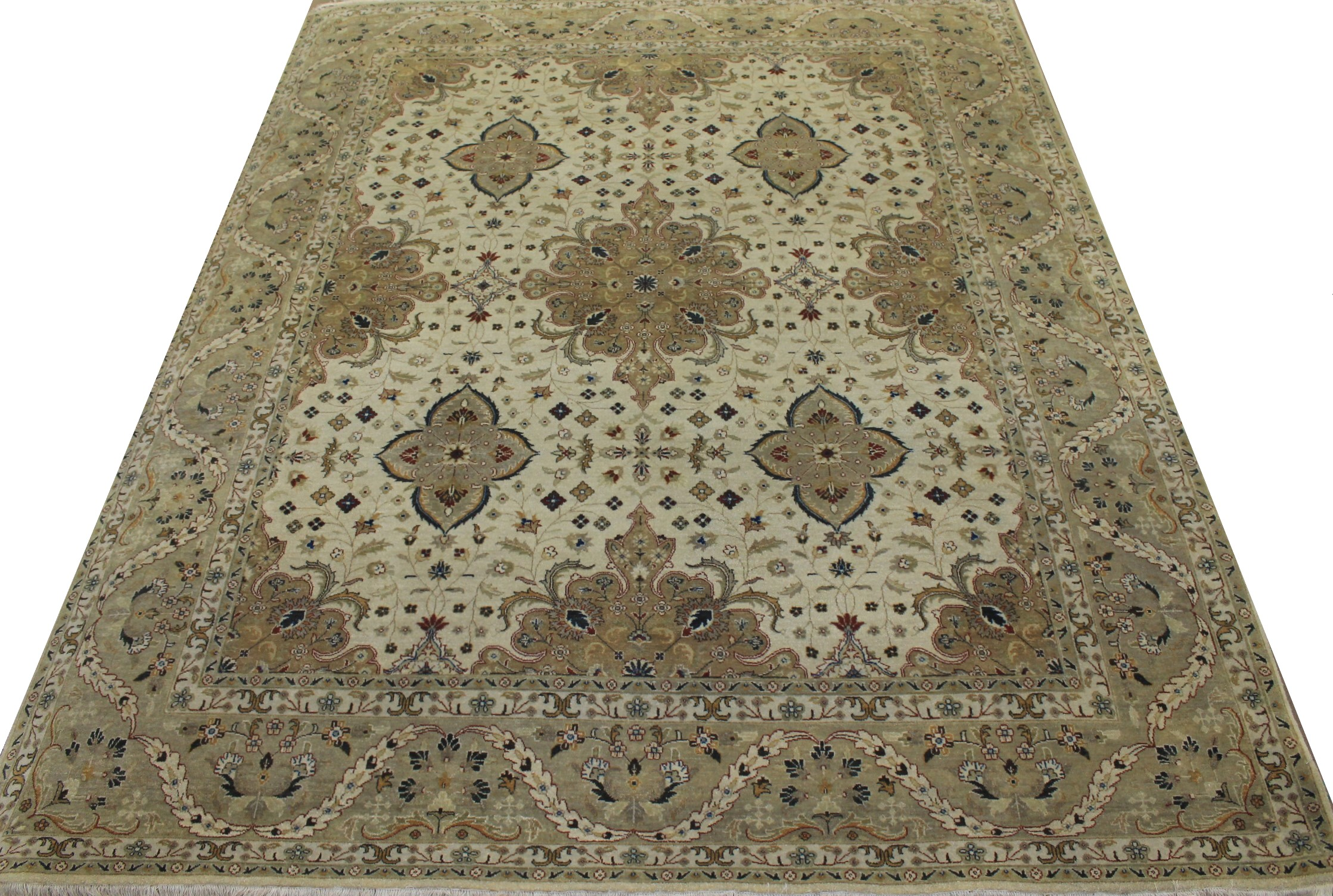 8x10 Traditional Hand Knotted Wool Area Rug - MR11174