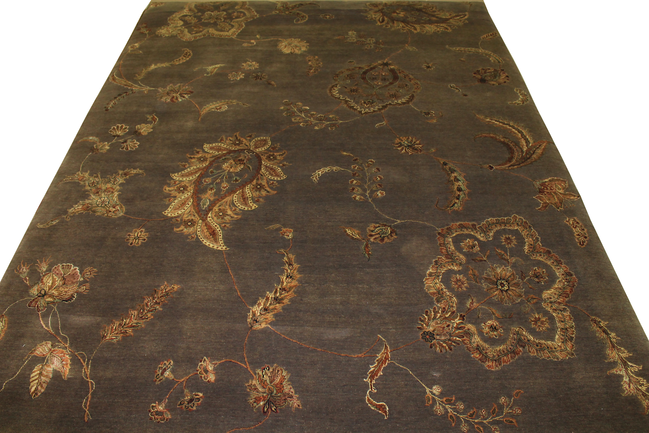 9x12 Silk Flower Hand Knotted Wool Area Rug - MR11260