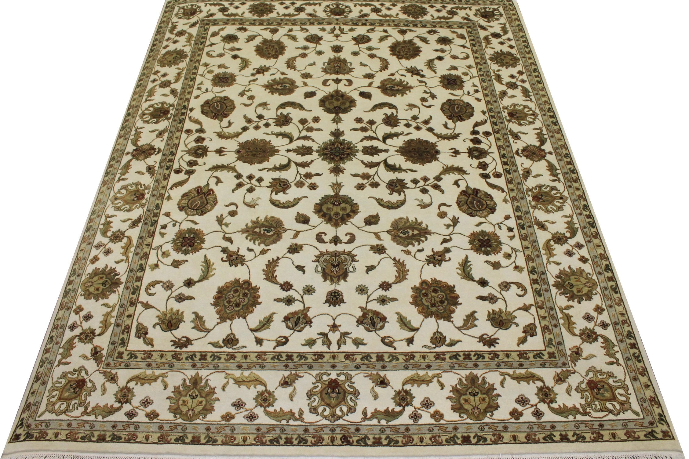 8x10 Silk Flower Hand Knotted Wool Area Rug - MR11354