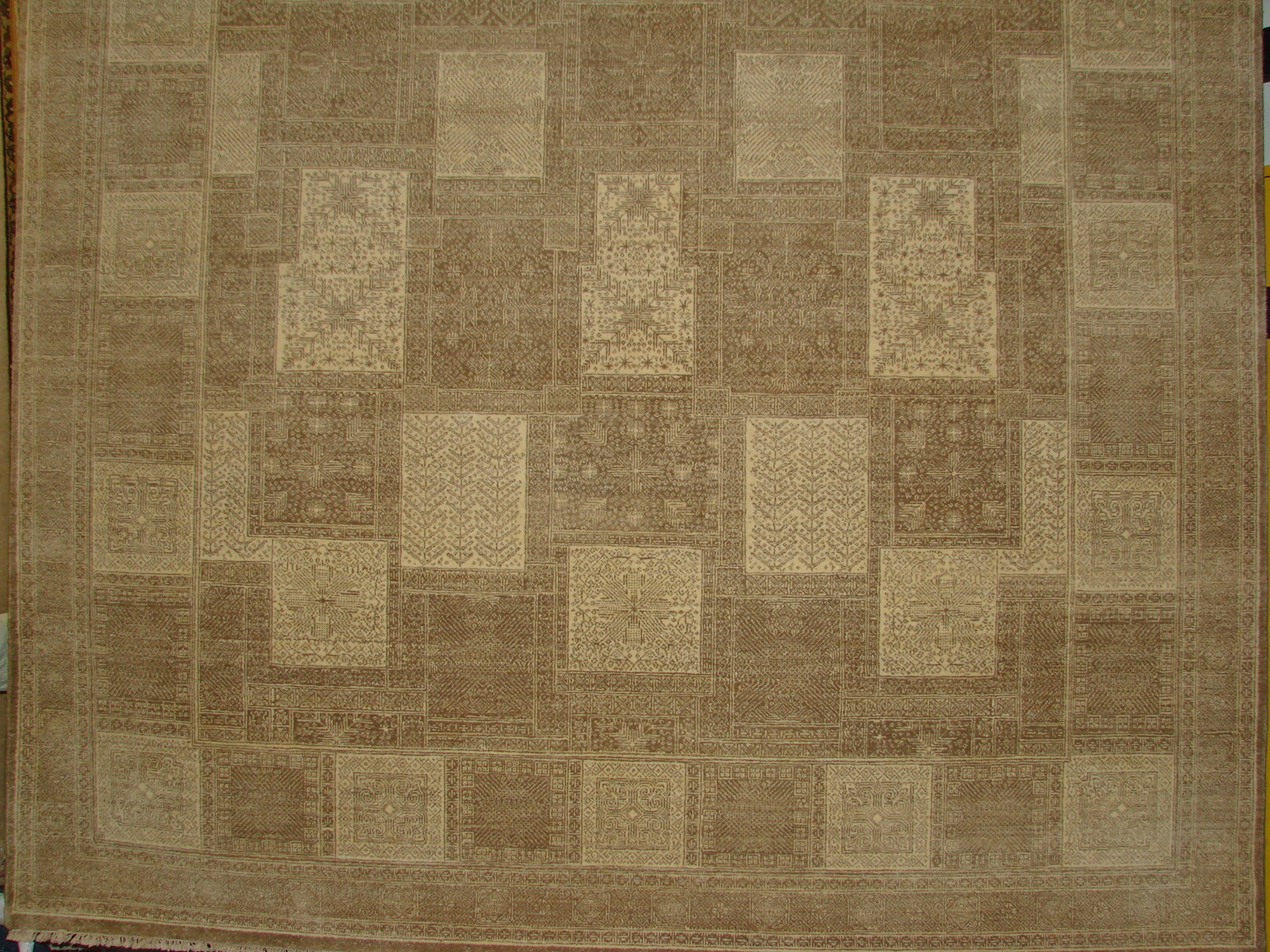 8x10 Contemporary Hand Knotted Wool Area Rug - MR11459