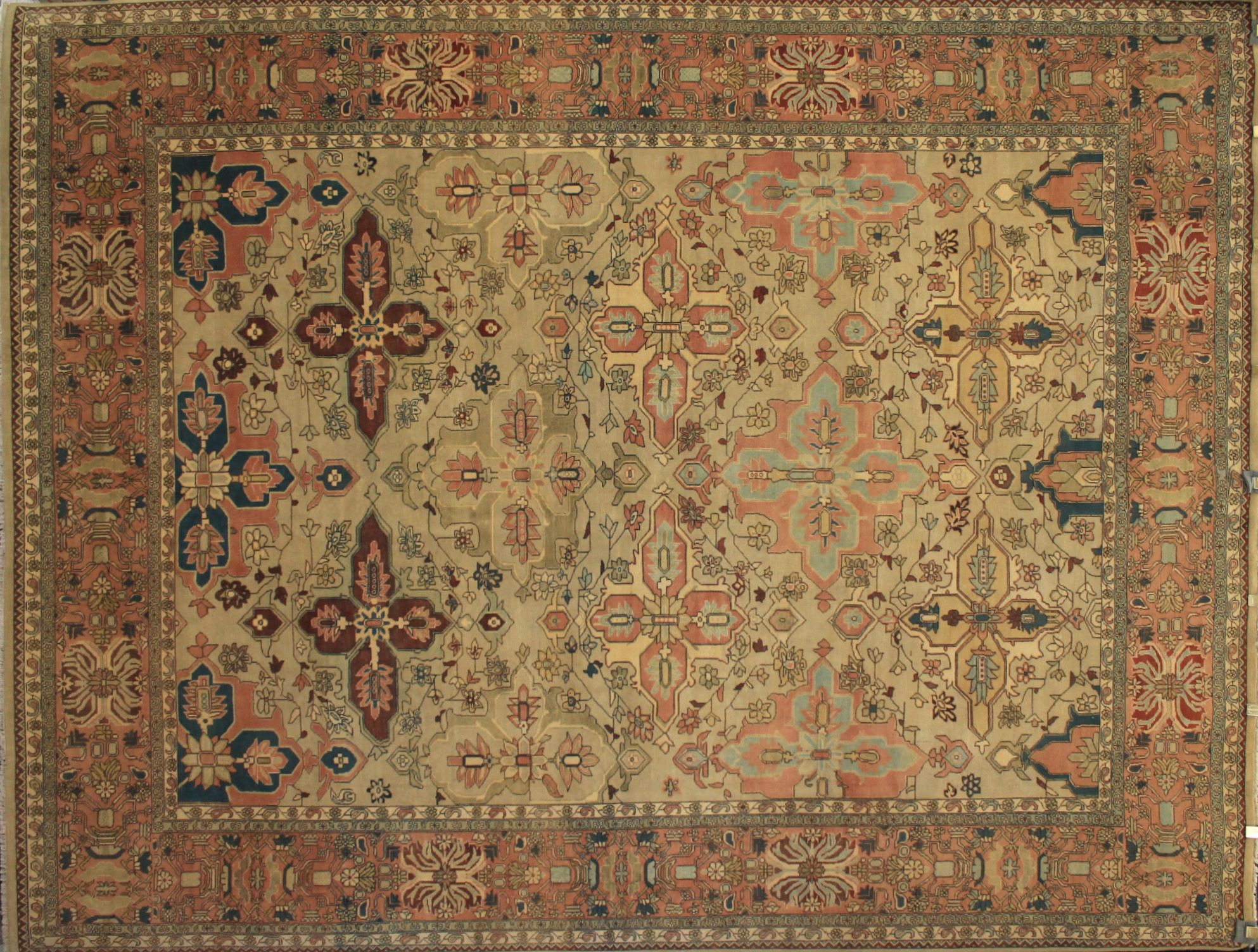 9x12 Antique Revival Hand Knotted Wool Area Rug - MR11538