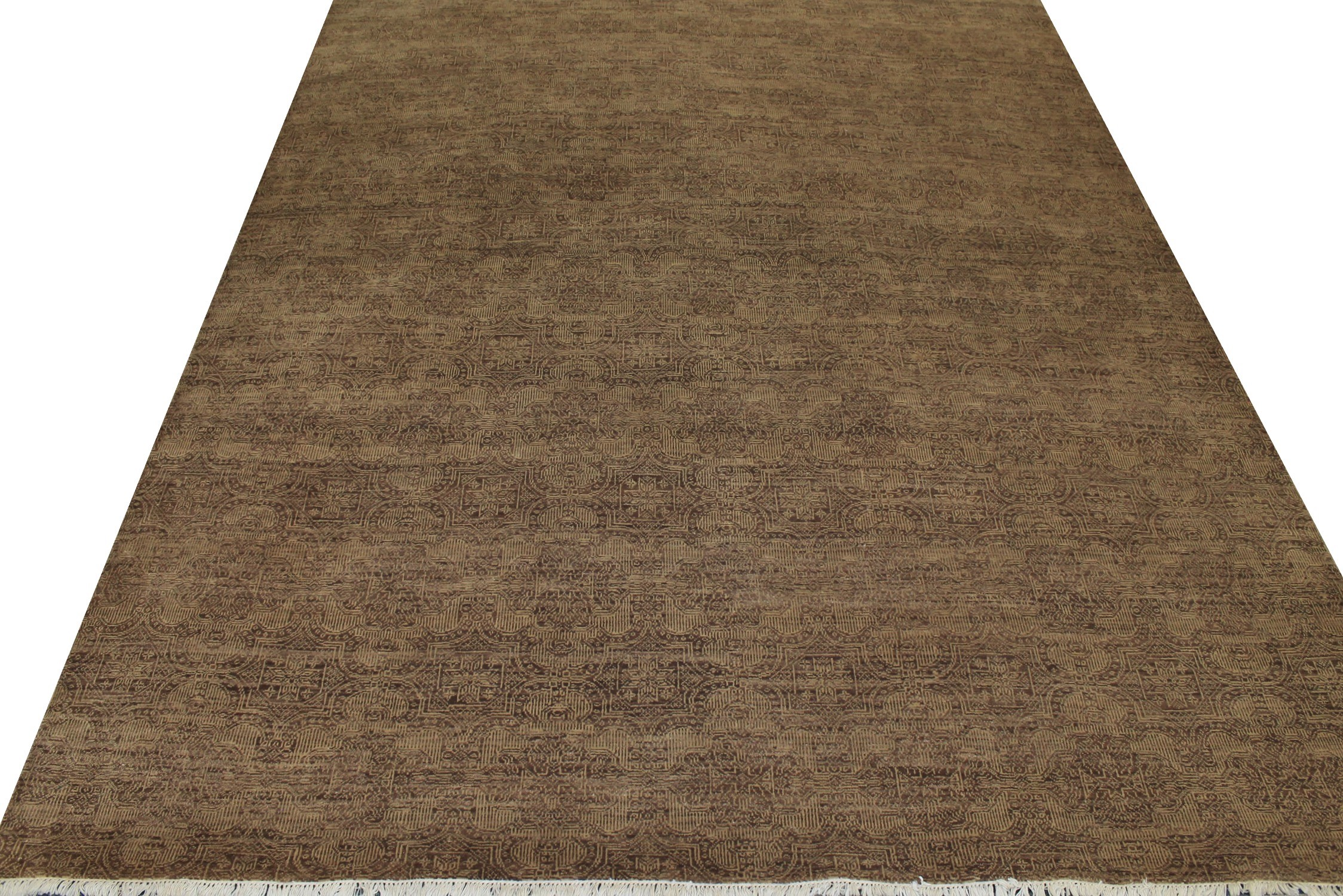 8x10 Contemporary Hand Knotted Wool Area Rug - MR11577