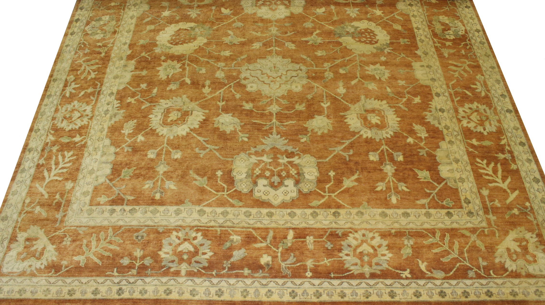 10x14 Oushak Hand Knotted Wool Area Rug - MR11663