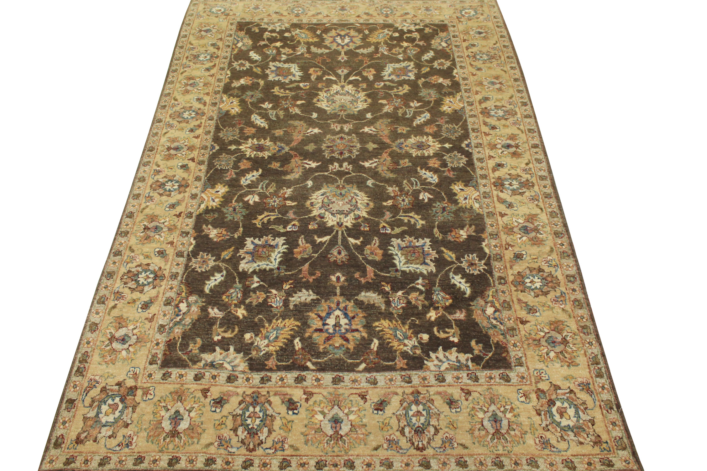 5x7/8 Traditional Hand Knotted Wool Area Rug - MR11688