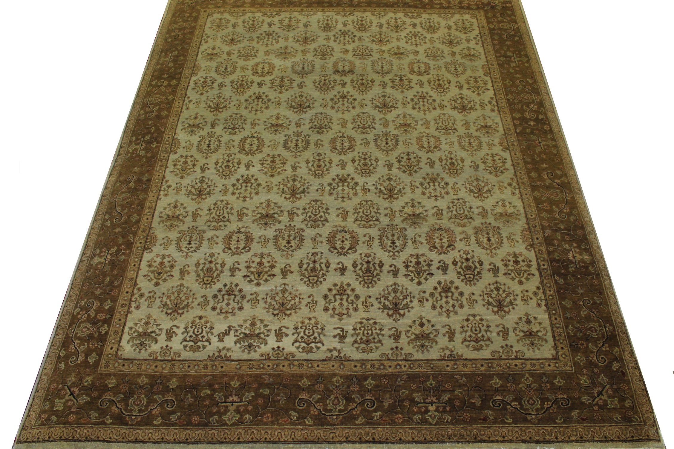 8x10 Antique Revival Hand Knotted Wool Area Rug - MR11764