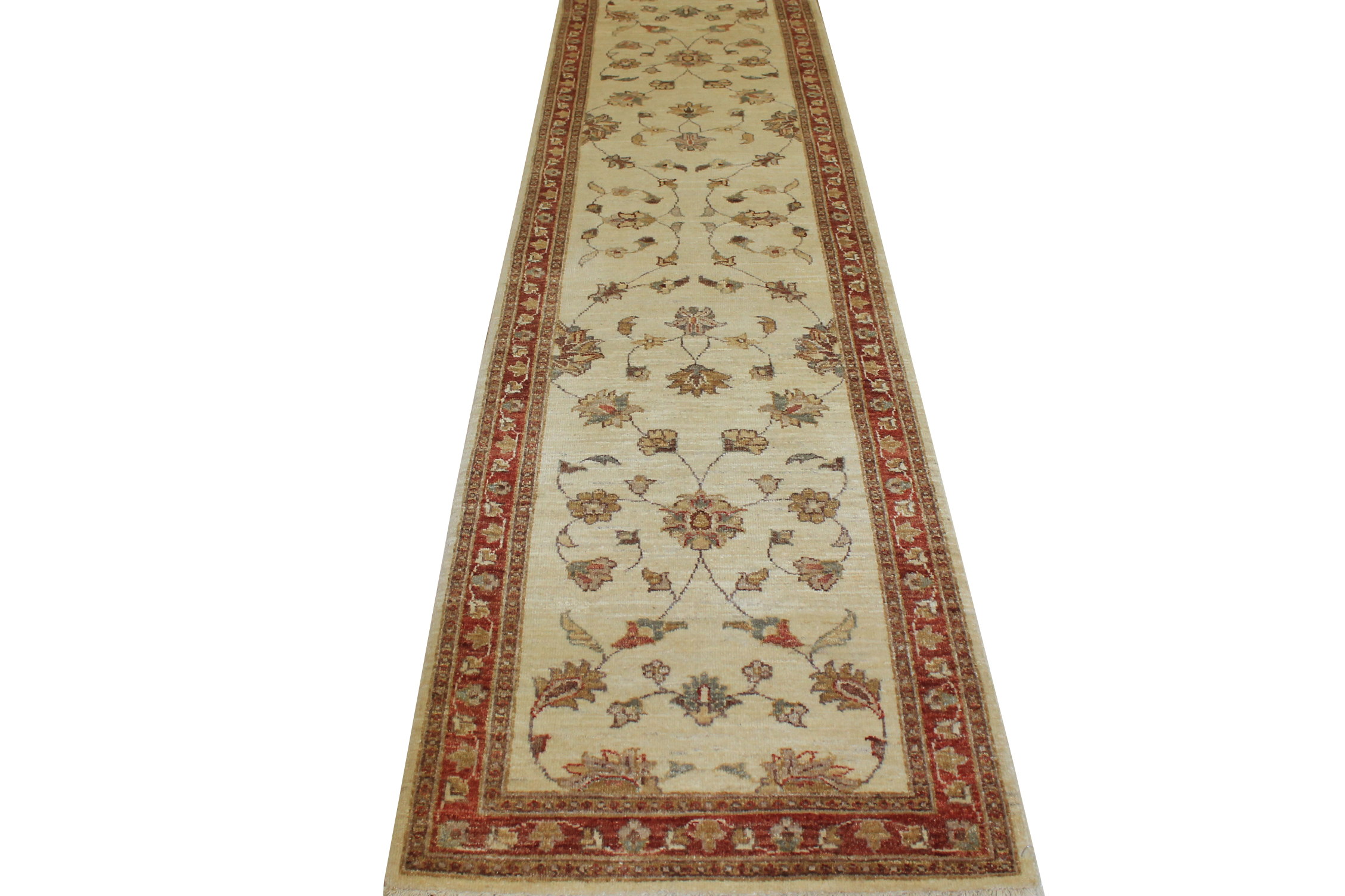 10 ft. Runner Peshawar Hand Knotted Wool Area Rug - MR11780