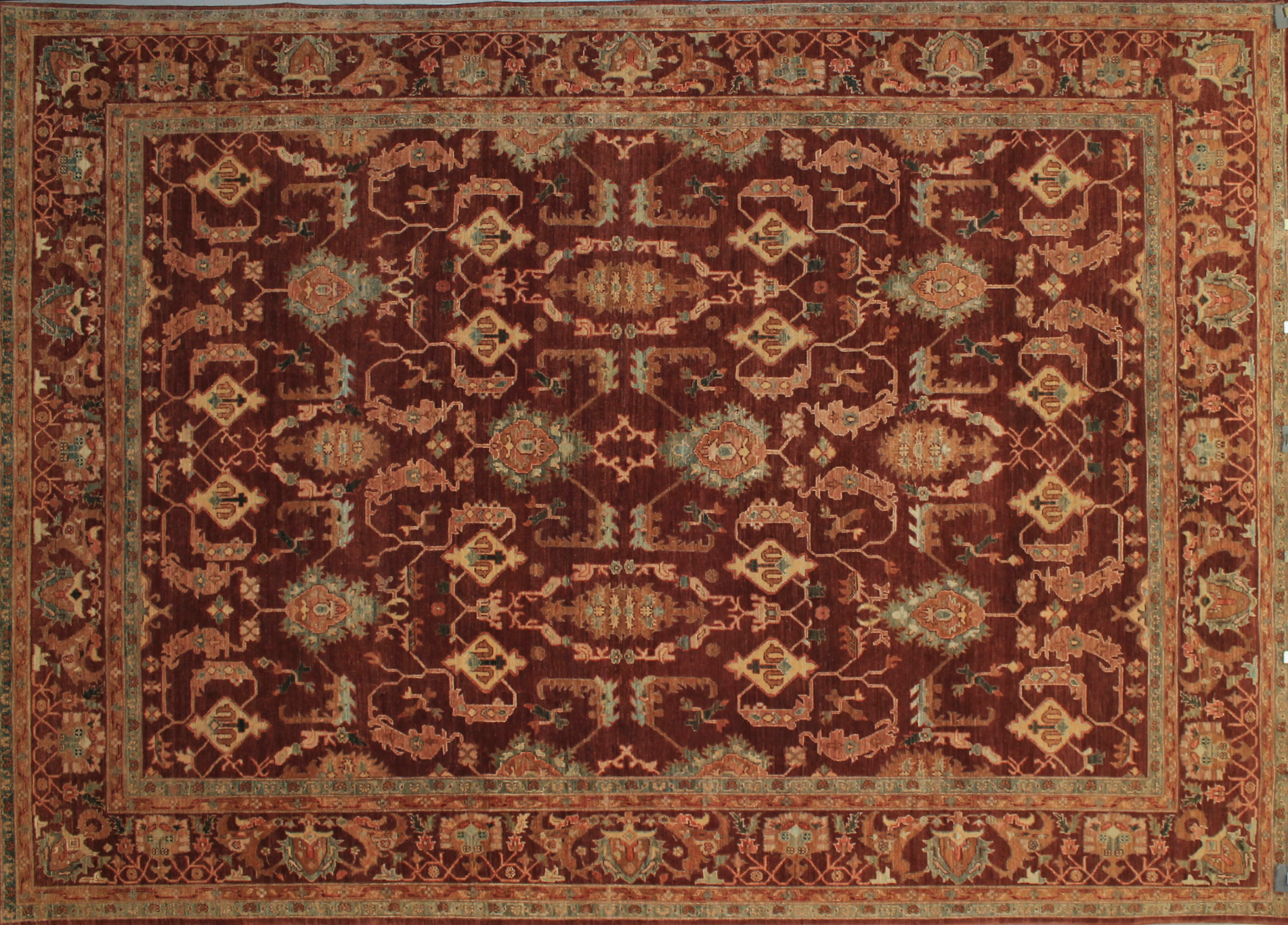 9x12 Peshawar Hand Knotted Wool Area Rug - MR11824