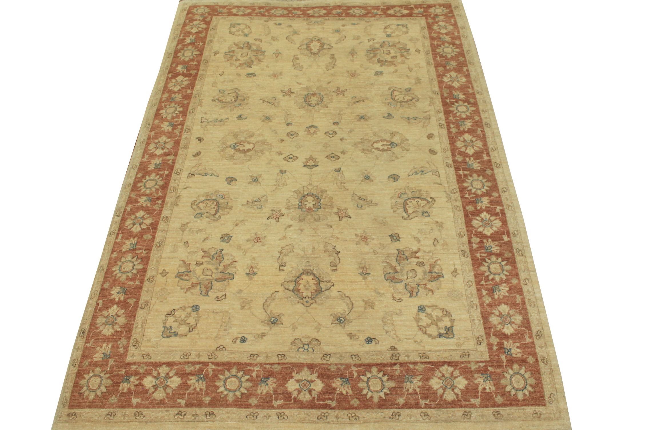 6x9 Peshawar Hand Knotted Wool Area Rug - MR11877