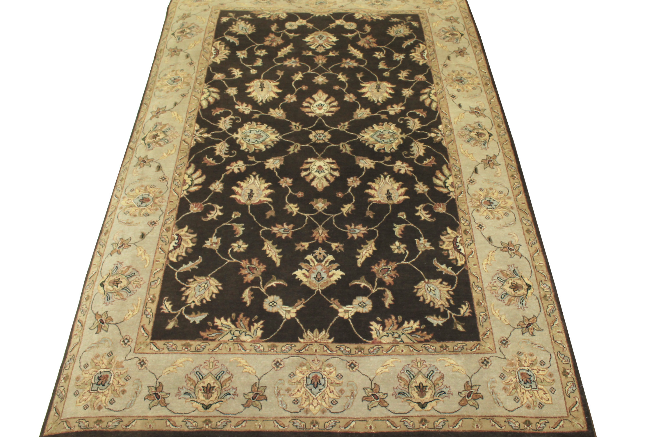 6x9 Traditional Hand Knotted Wool Area Rug - MR12228