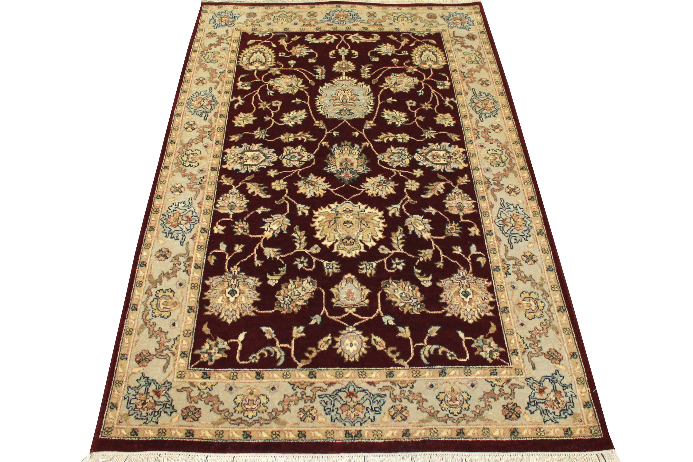 4x6 Traditional Hand Knotted Wool Area Rug - MR12235