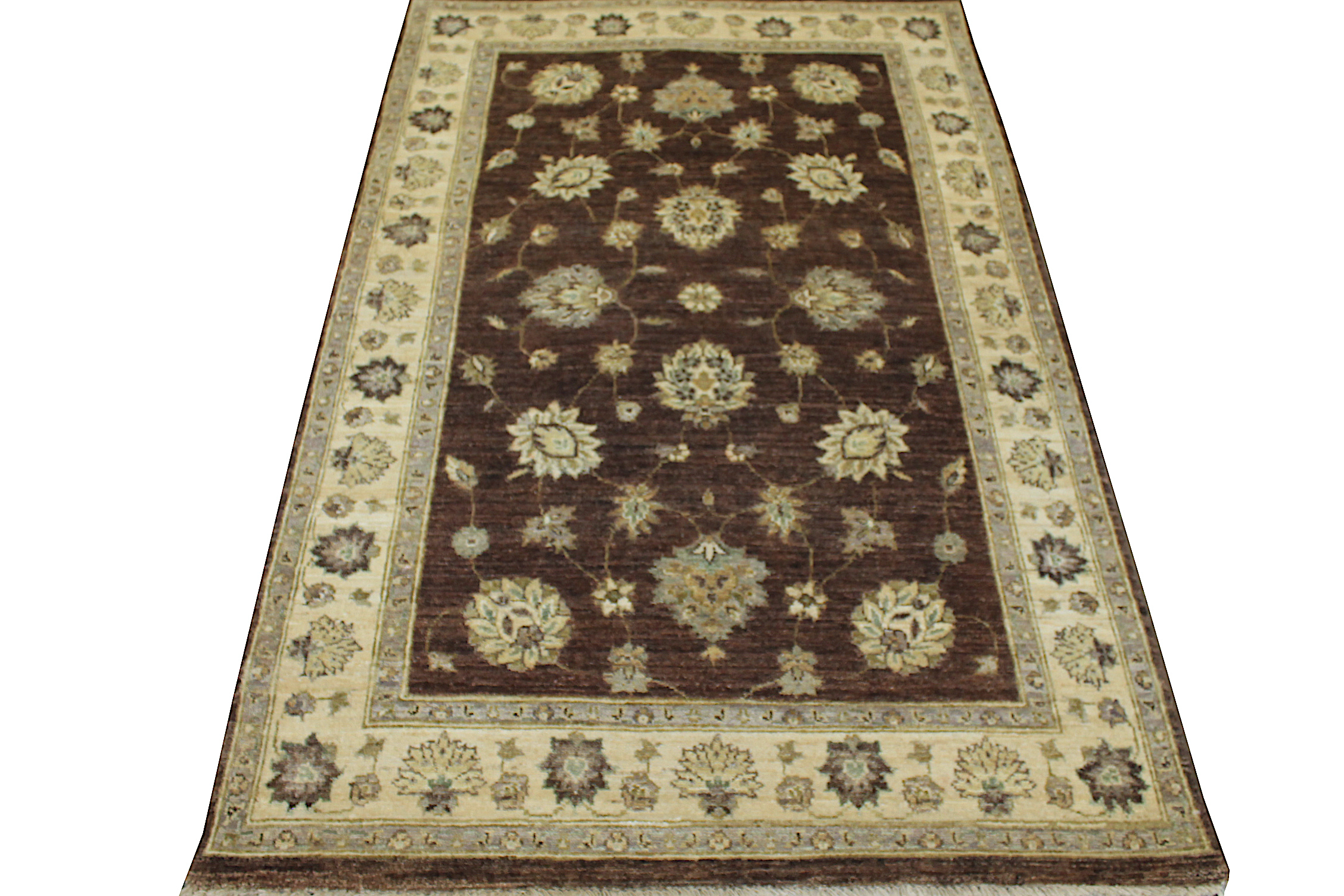 4x6 Traditional Hand Knotted Wool Area Rug - MR12236