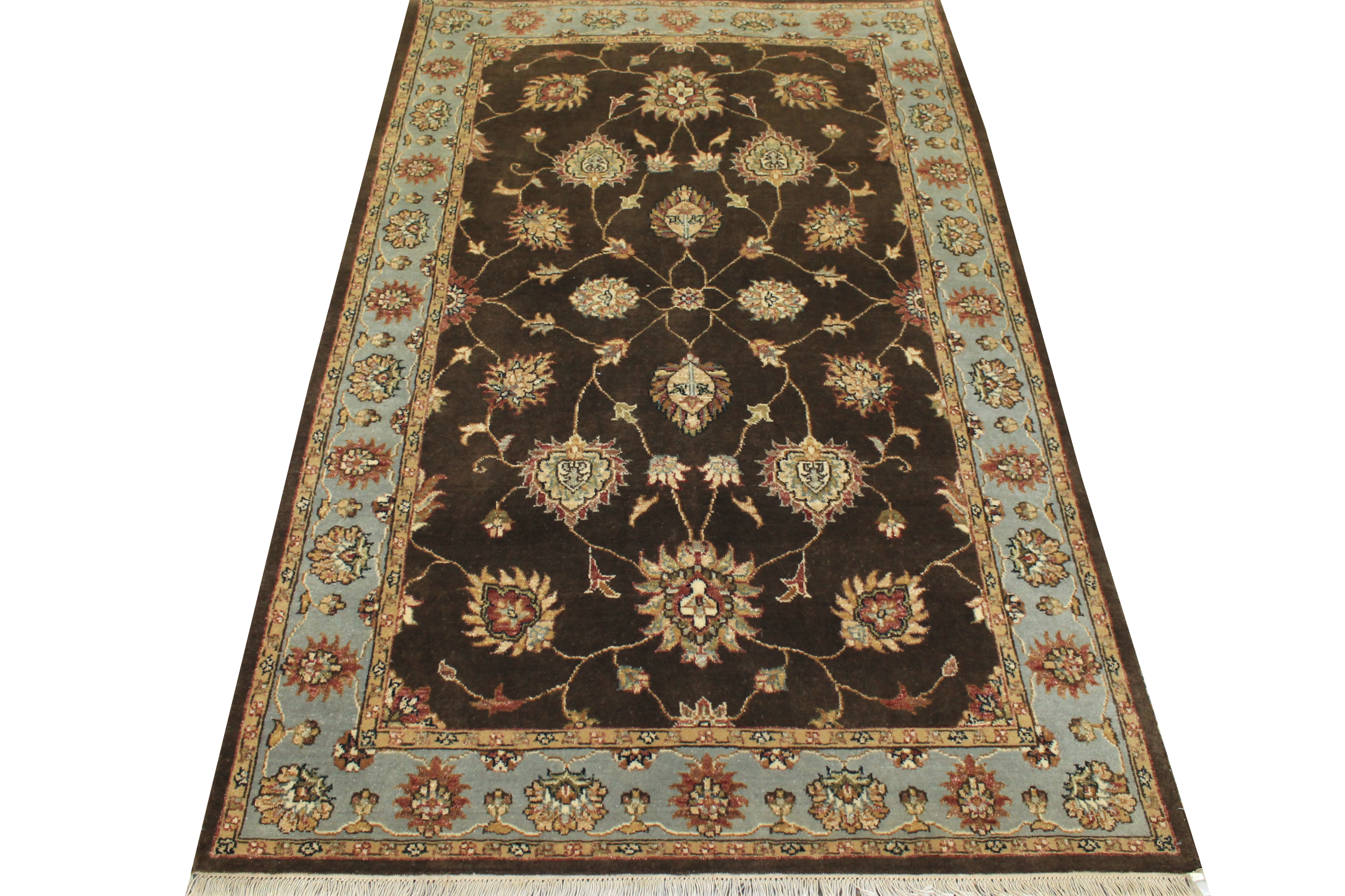 4x6 Traditional Hand Knotted Wool Area Rug - MR12237