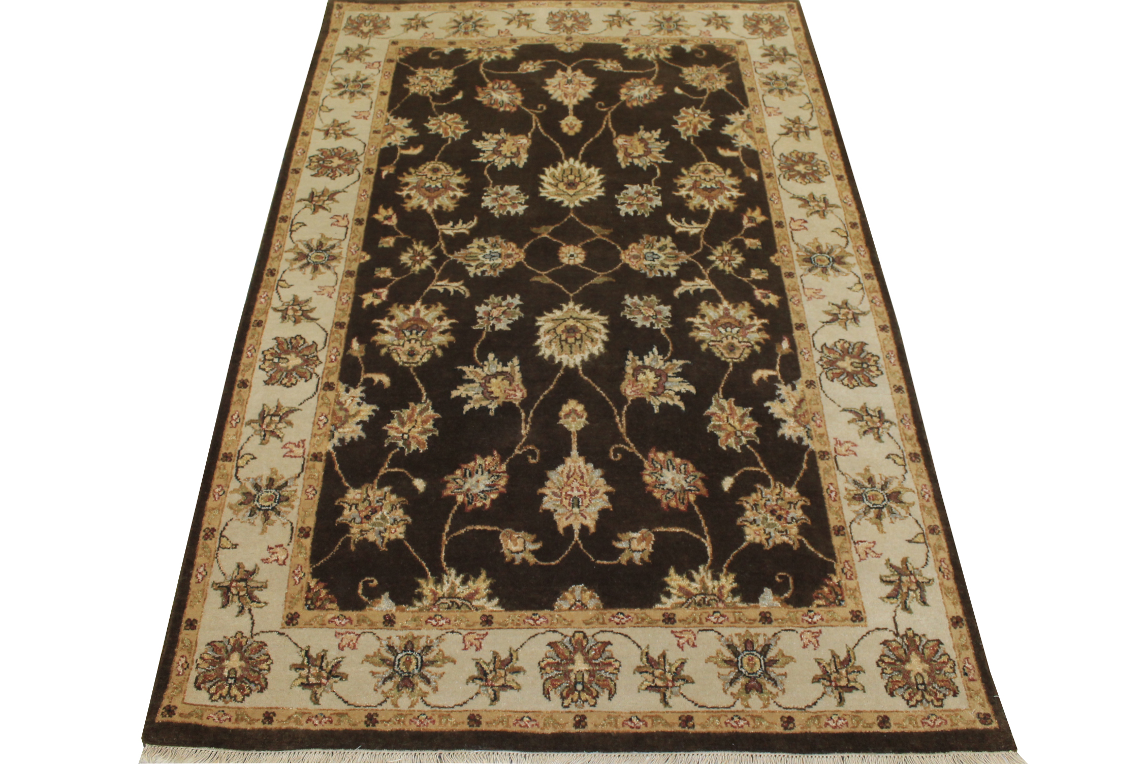 4x6 Traditional Hand Knotted Wool Area Rug - MR12239