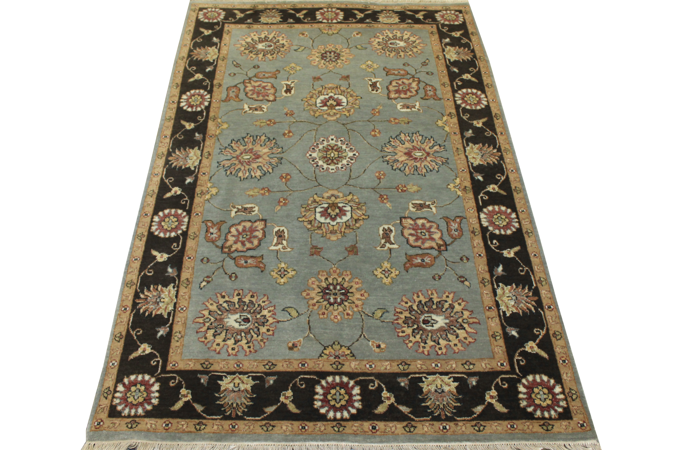 4x6 Traditional Hand Knotted Wool Area Rug - MR12241