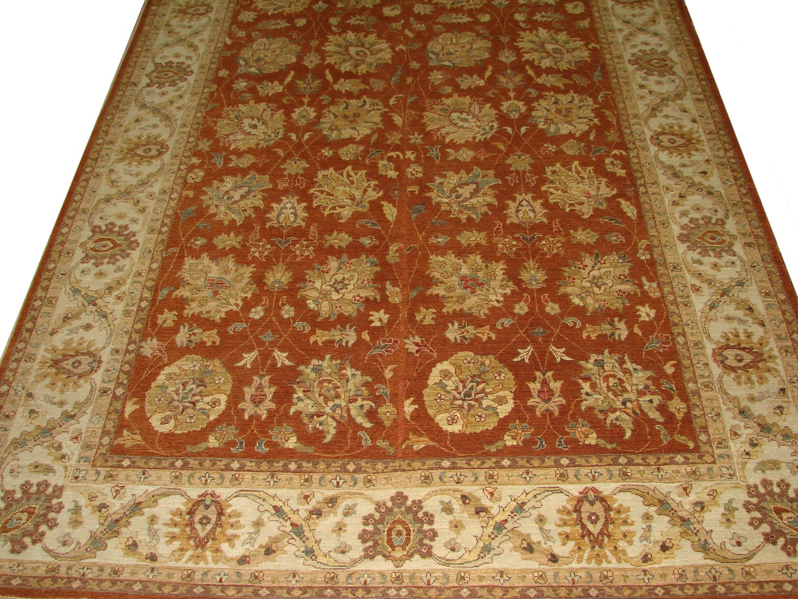 9x12 Traditional Hand Knotted Wool Area Rug - MR12268