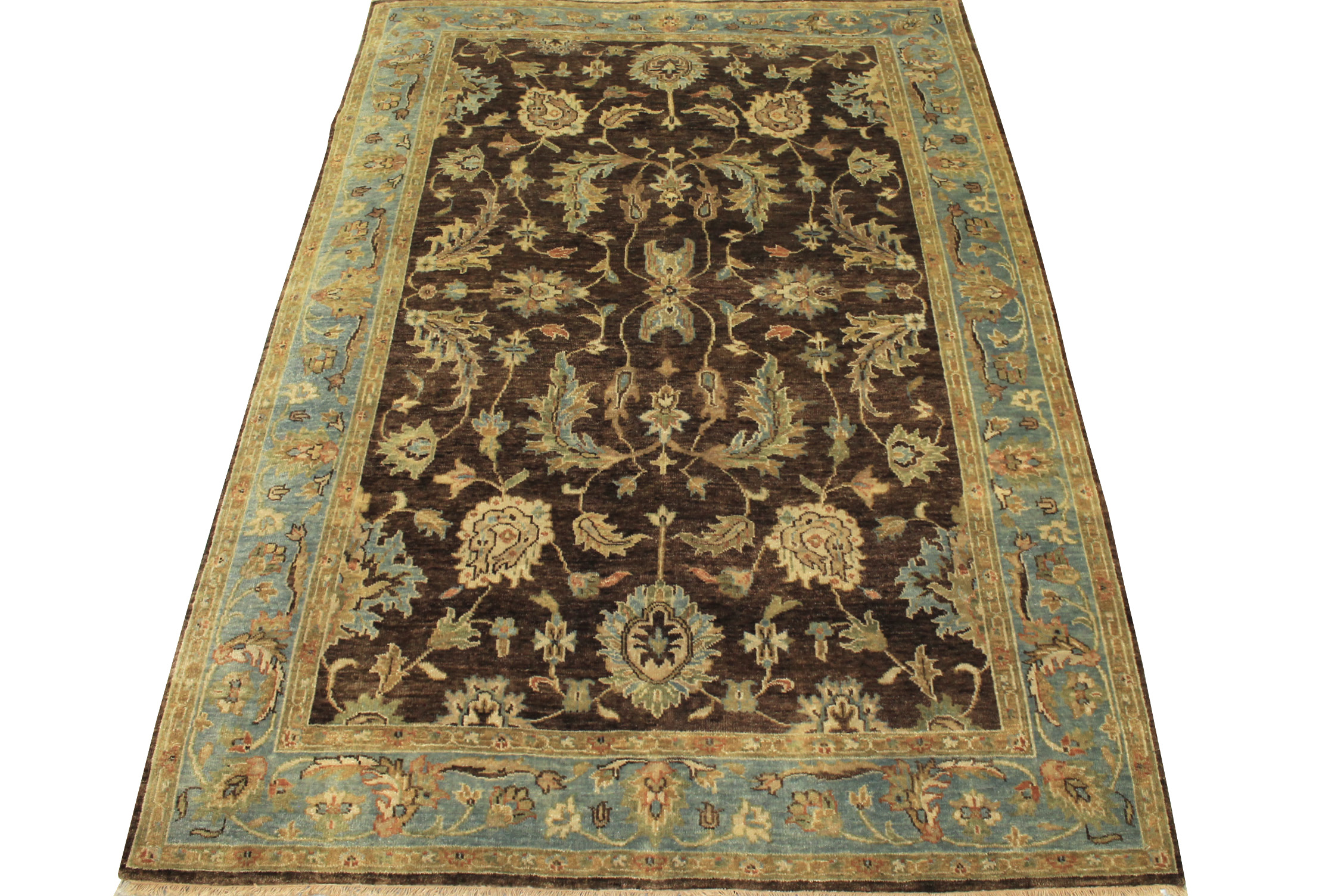 6x9 Oushak Hand Knotted Wool Area Rug - MR12362