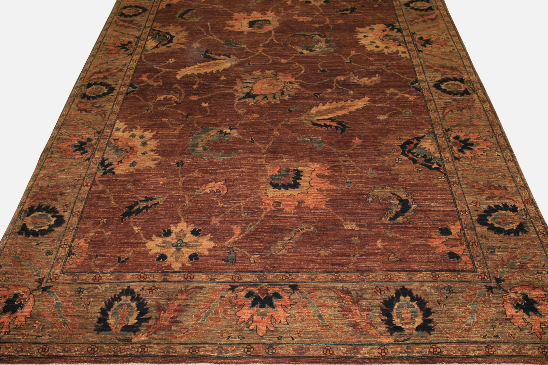 9x12 Antique Revival Hand Knotted Wool Area Rug - MR12409
