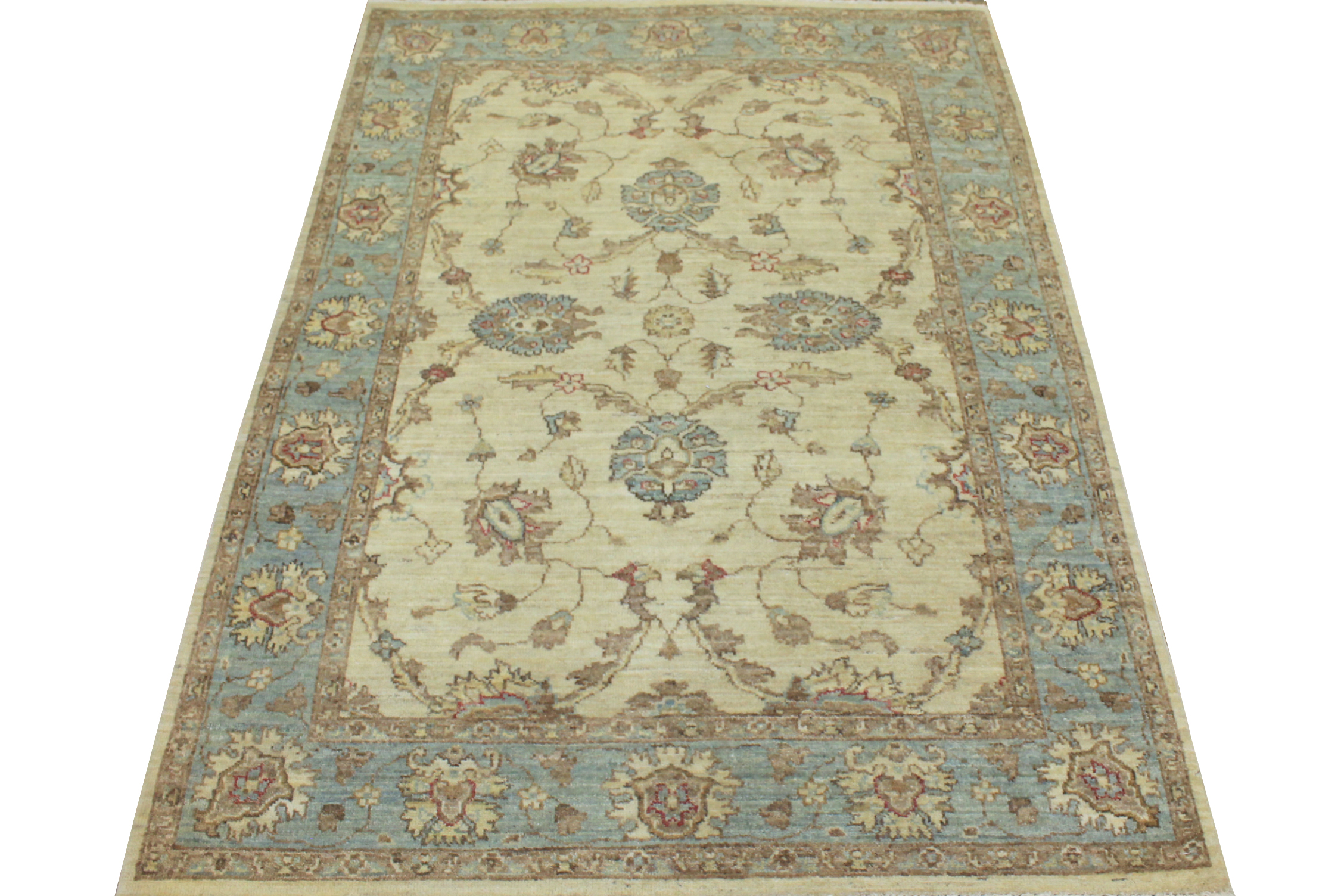 4x6 Peshawar Hand Knotted Wool Area Rug - MR12752