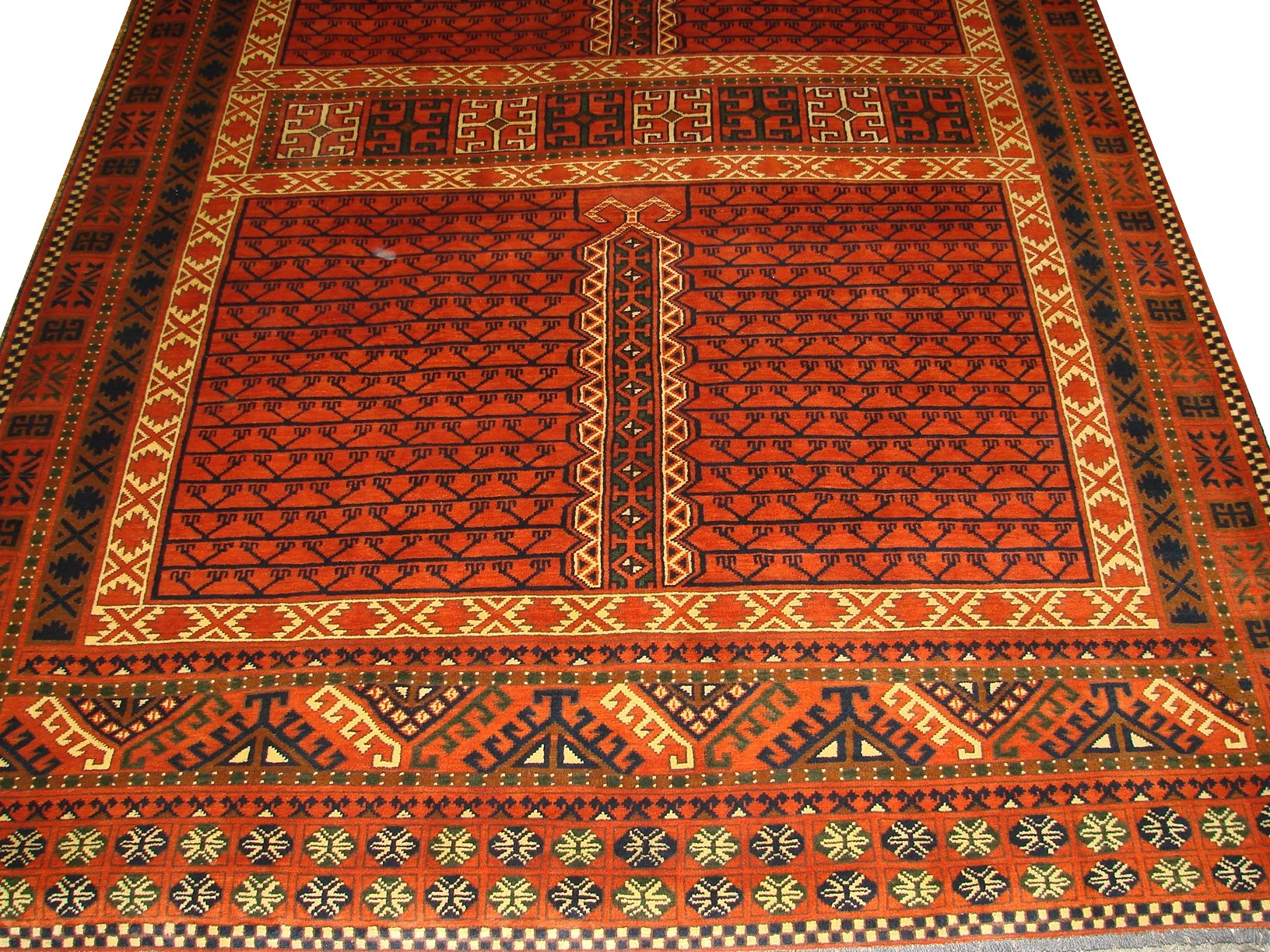6x9 Kazak Hand Knotted Wool Area Rug - MR12787