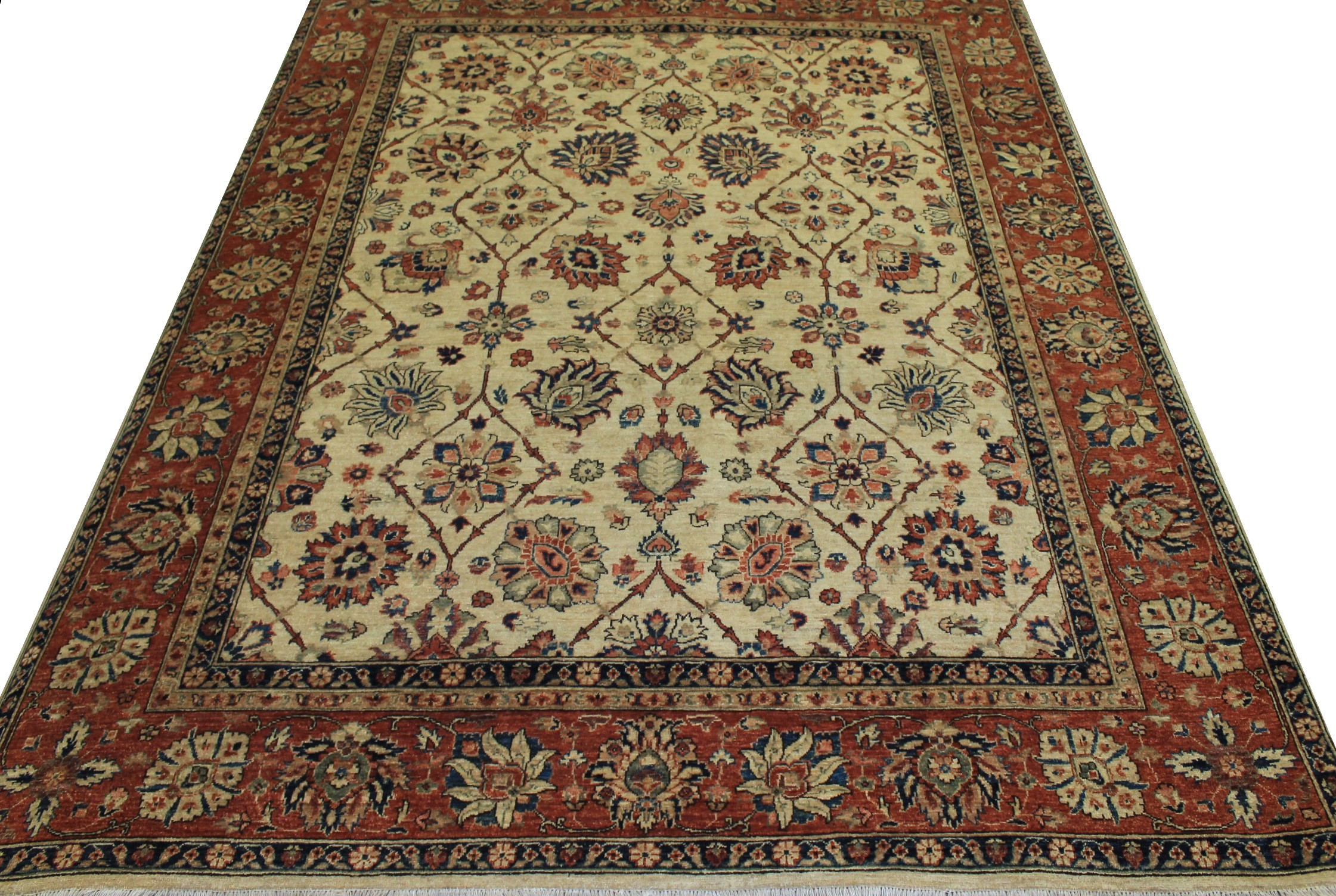 8x10 Peshawar Hand Knotted Wool Area Rug - MR13038