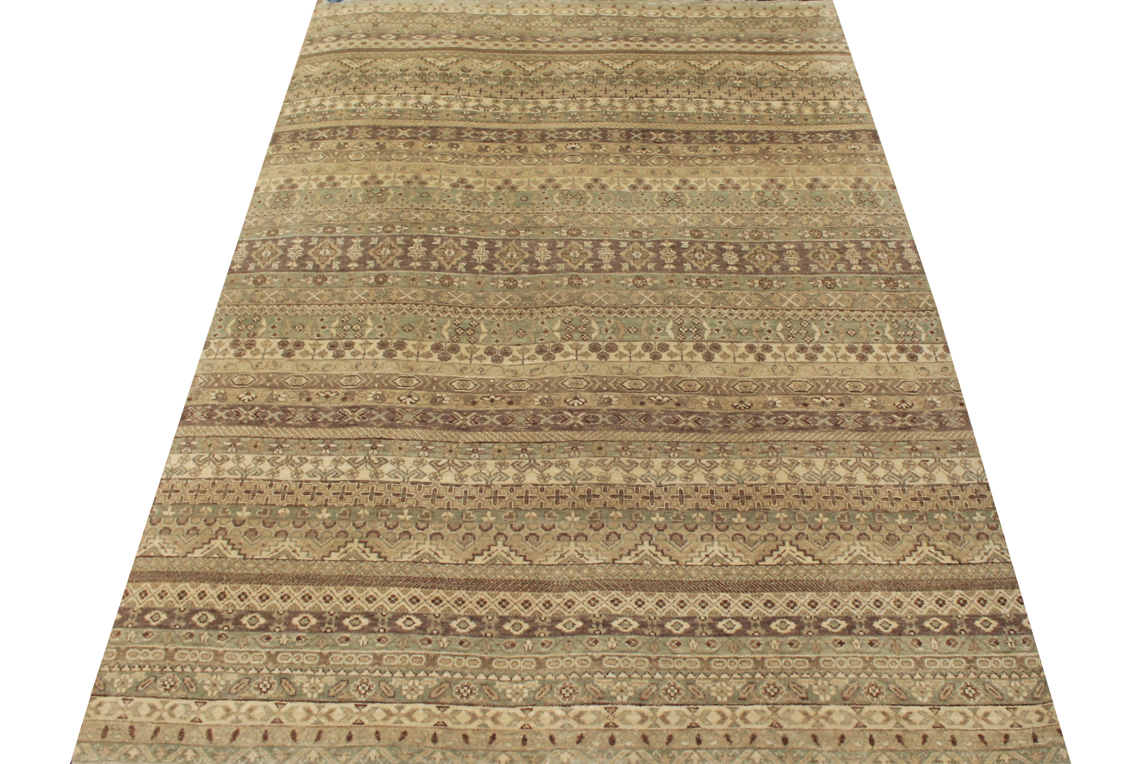 6x9 Contemporary Hand Knotted Wool Area Rug - MR13123