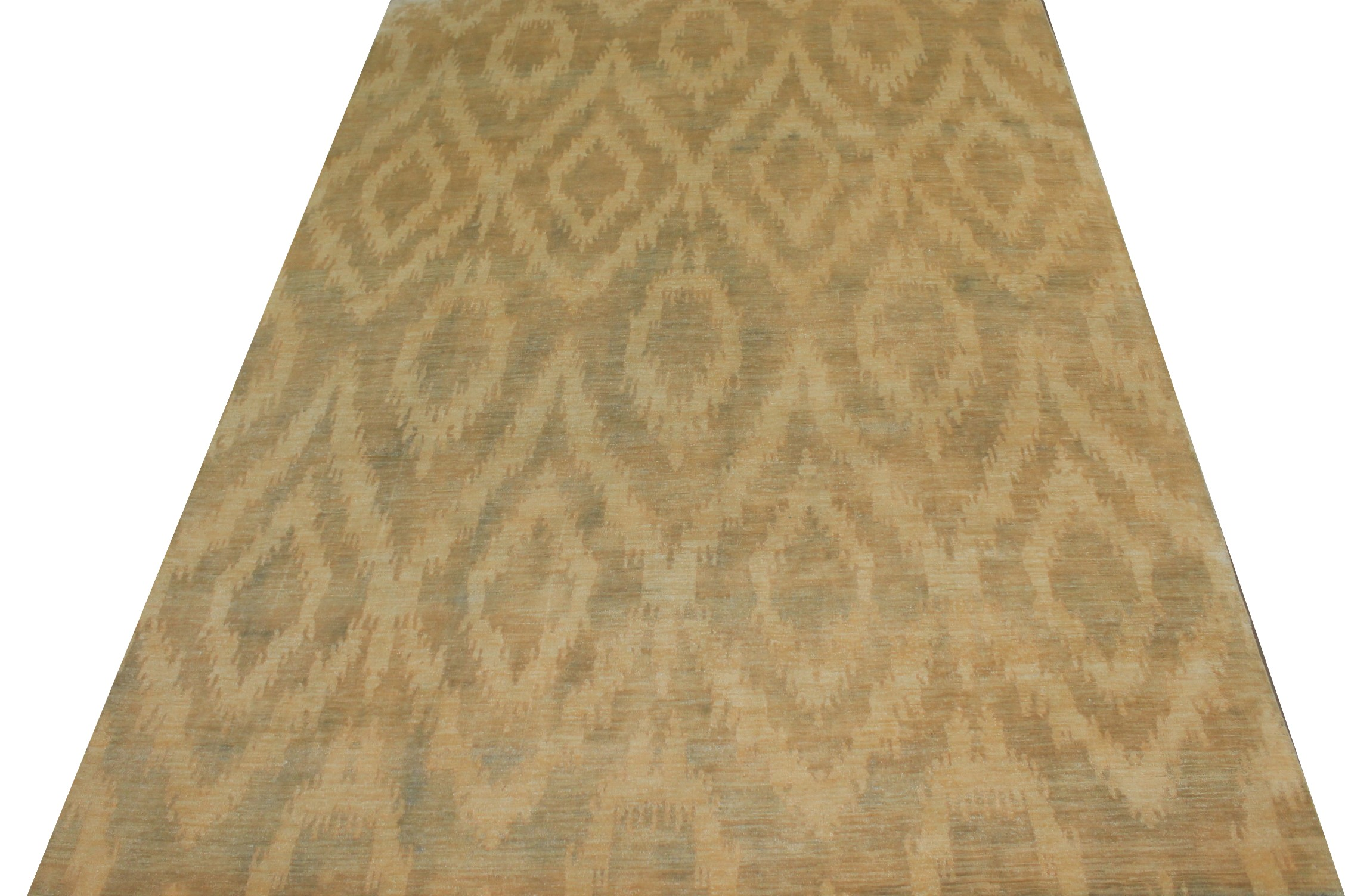 9x12 Contemporary Hand Knotted Wool Area Rug - MR13124