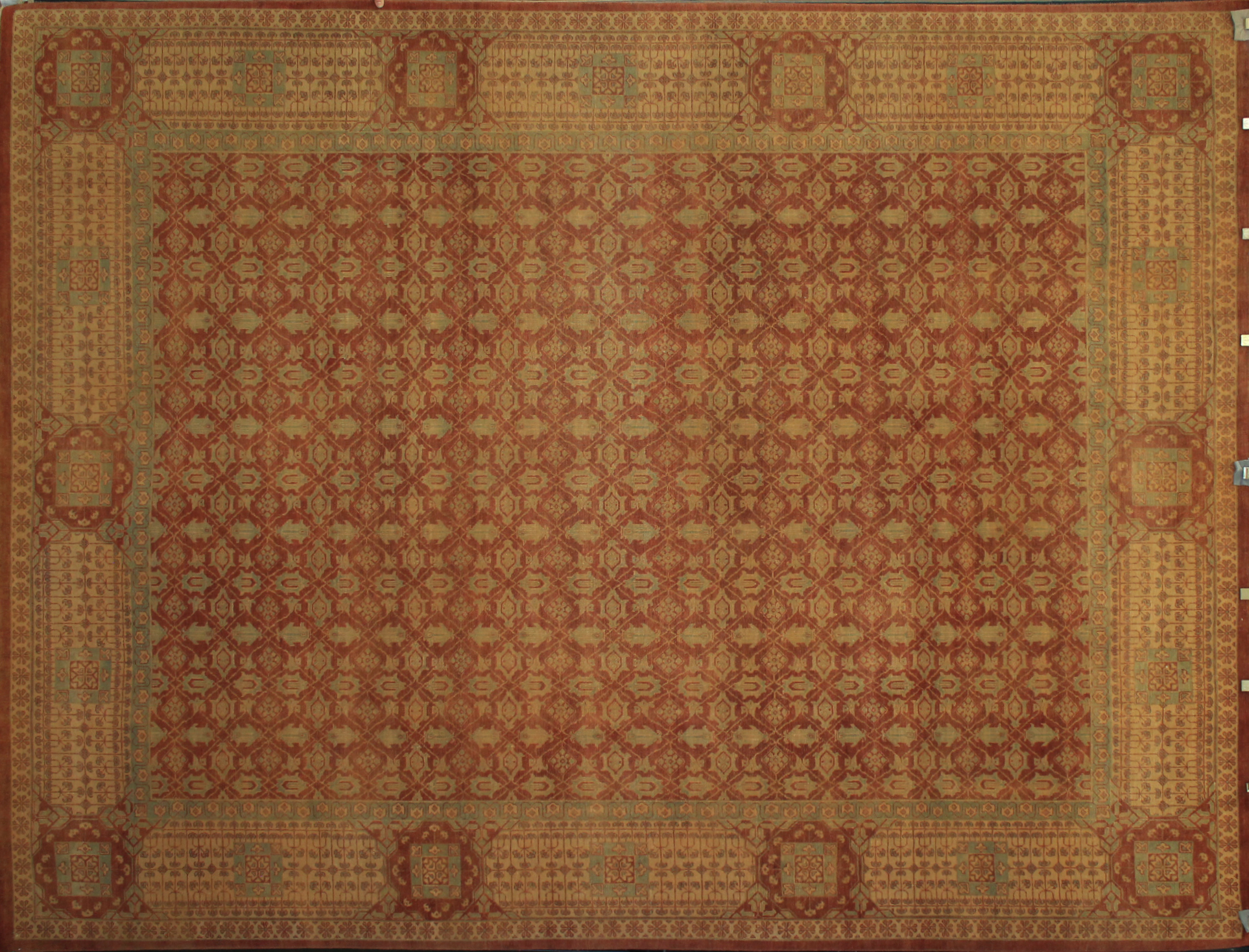 9x12 Antique Revival Hand Knotted Wool Area Rug - MR13126