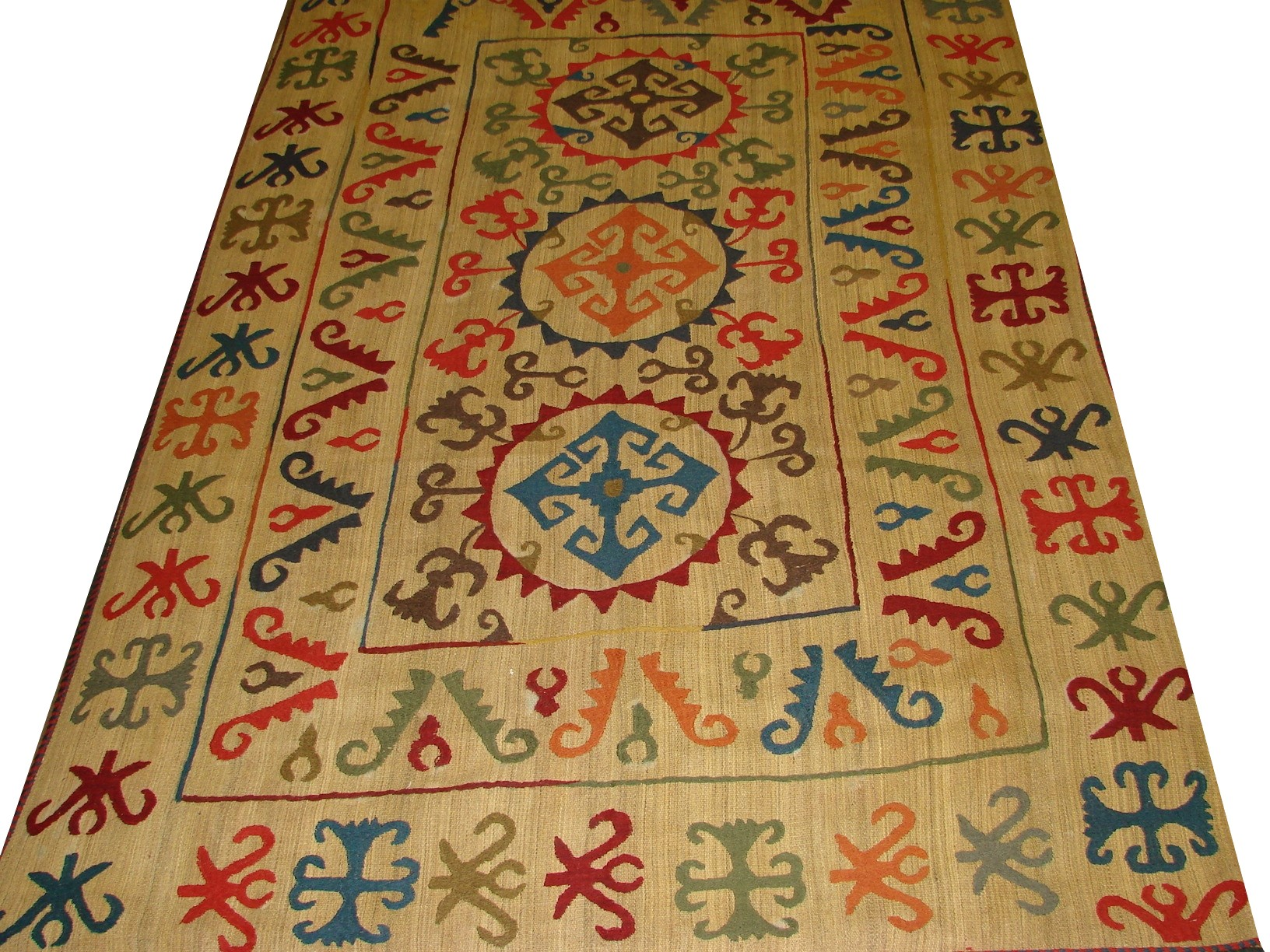 6x9 Flat Weave Hand Knotted Wool Area Rug - MR13179