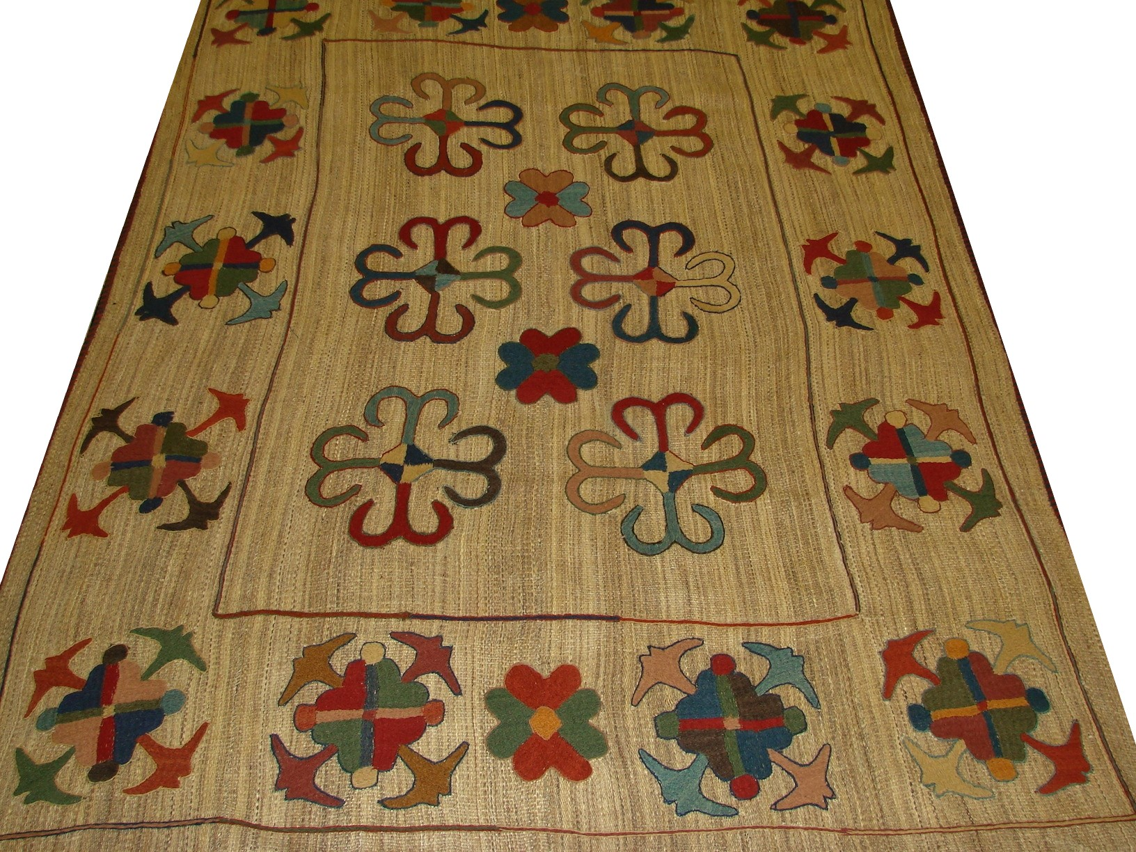 5x7/8 Flat Weave Hand Knotted Wool Area Rug - MR13181