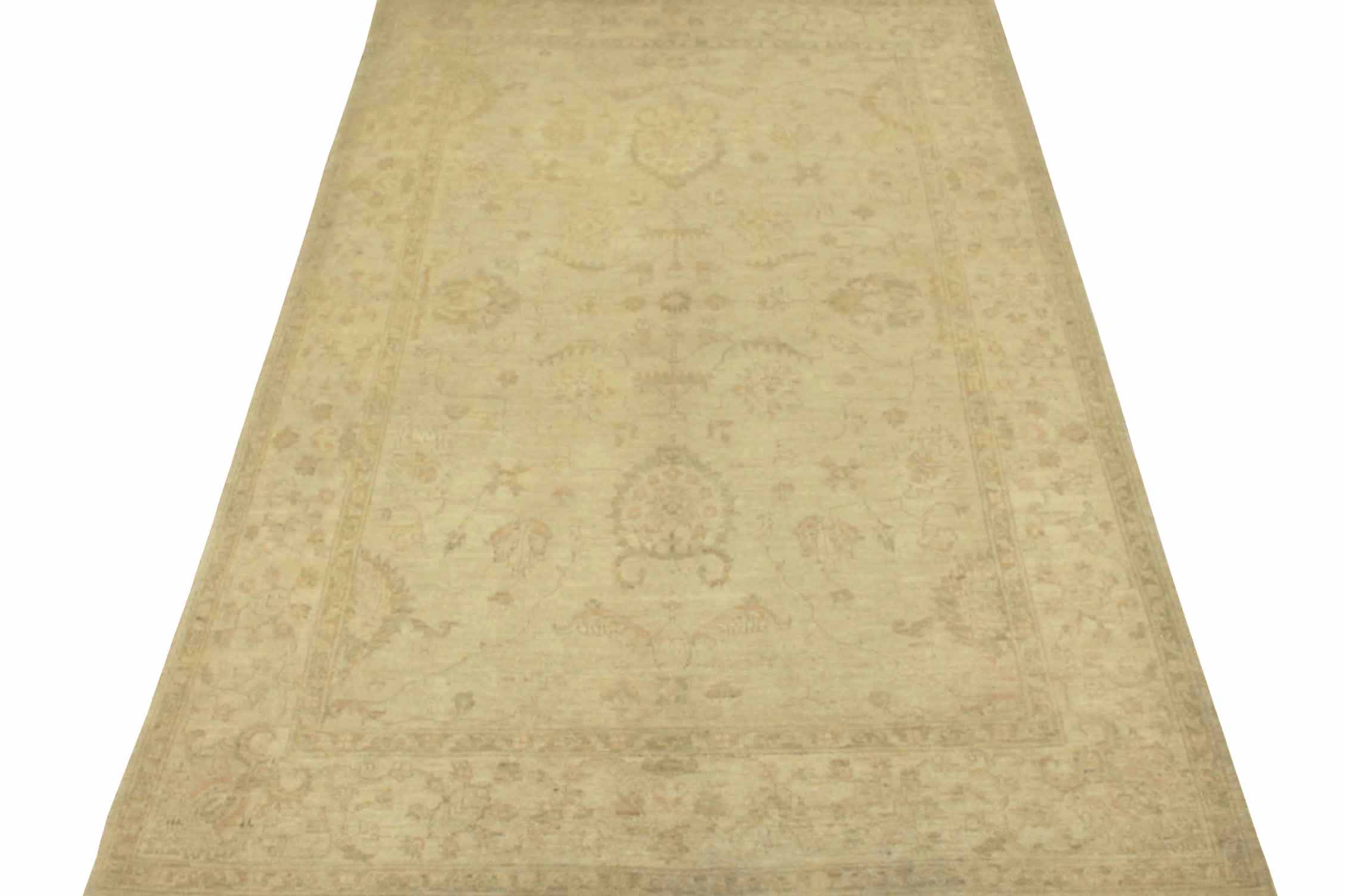 6x9 Peshawar Hand Knotted Wool Area Rug - MR13235