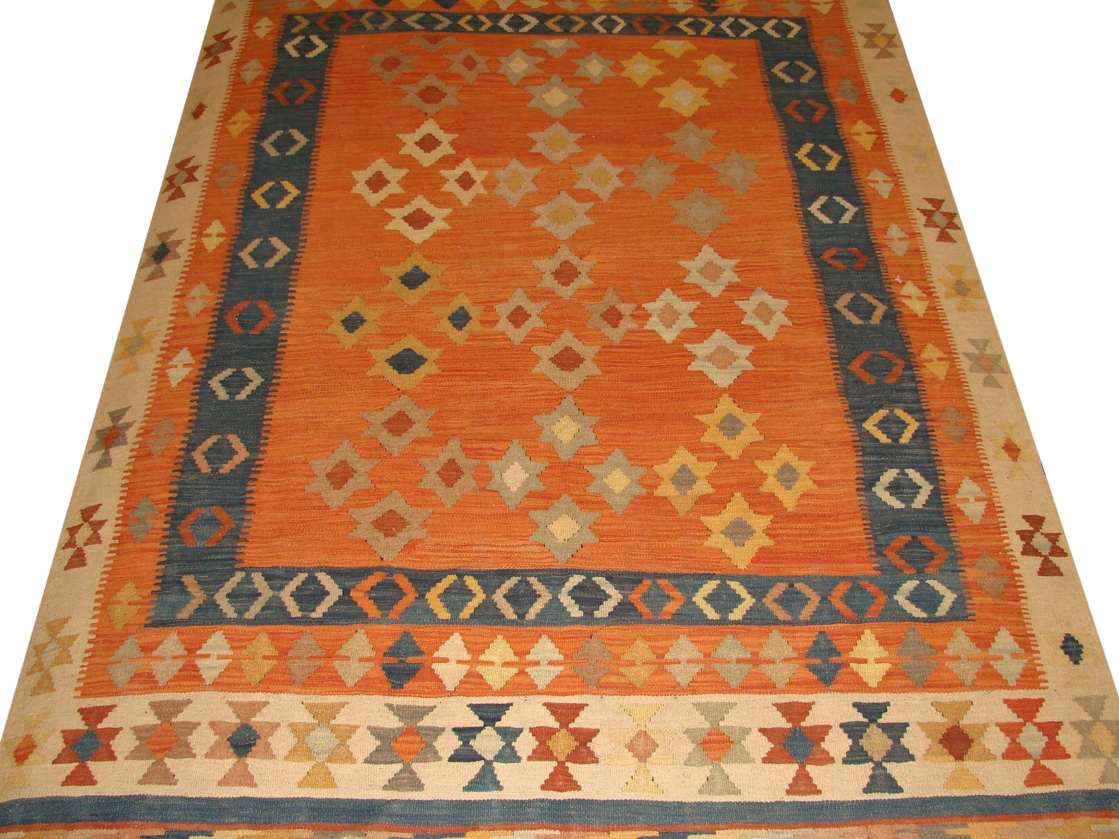 5x7/8 Flat Weave Hand Knotted Wool Area Rug - MR13323