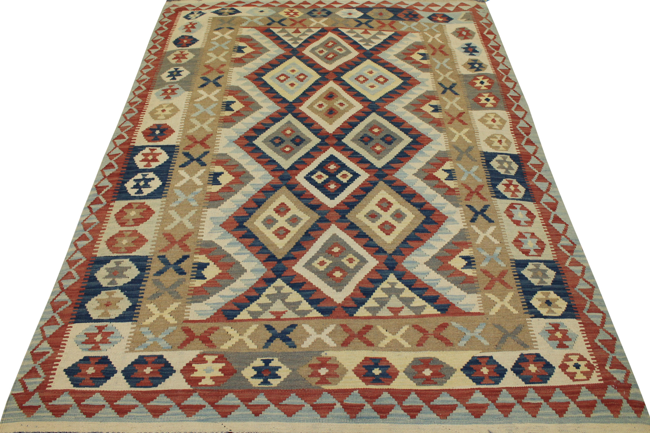 5x7/8 Flat Weave Hand Knotted Wool Area Rug - MR13324