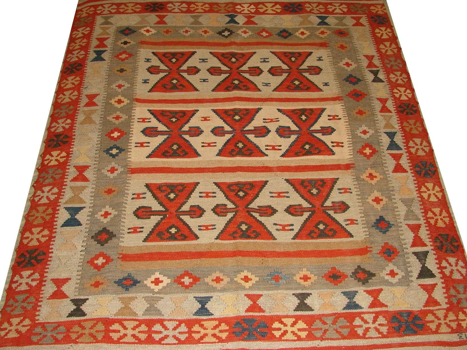 5x7/8 Flat Weave Hand Knotted Wool Area Rug - MR13325