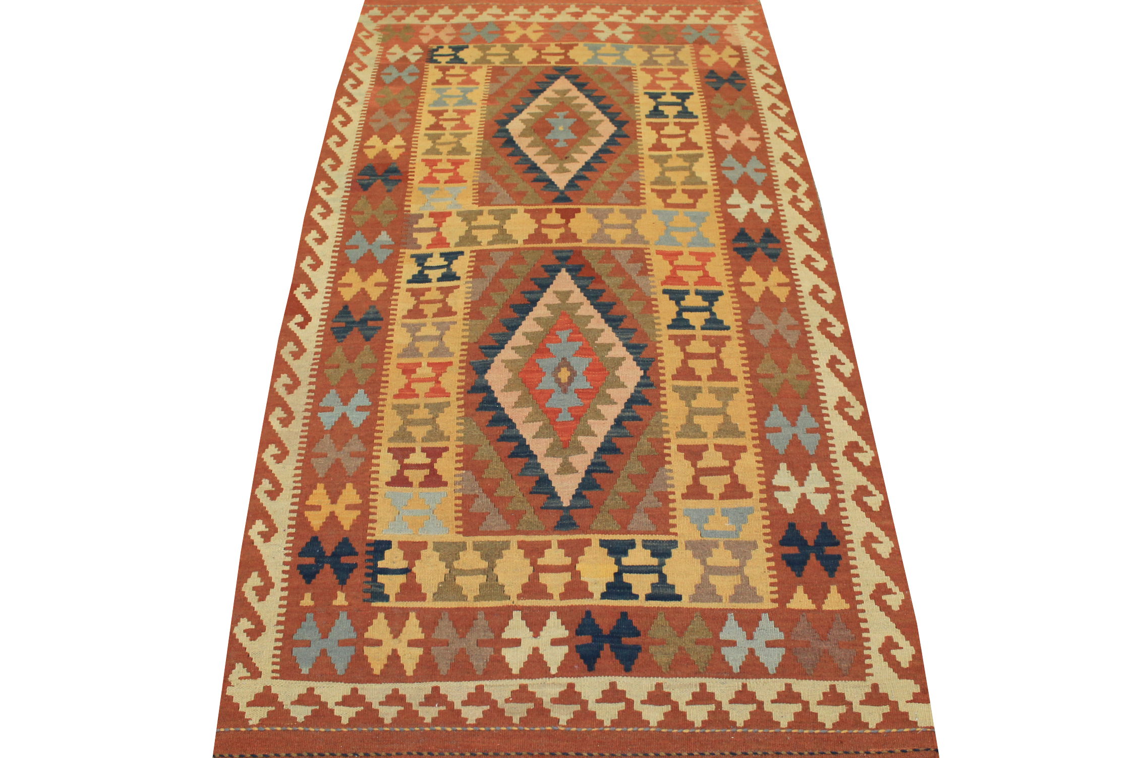 4x6 Flat Weave Hand Knotted Wool Area Rug - MR13329