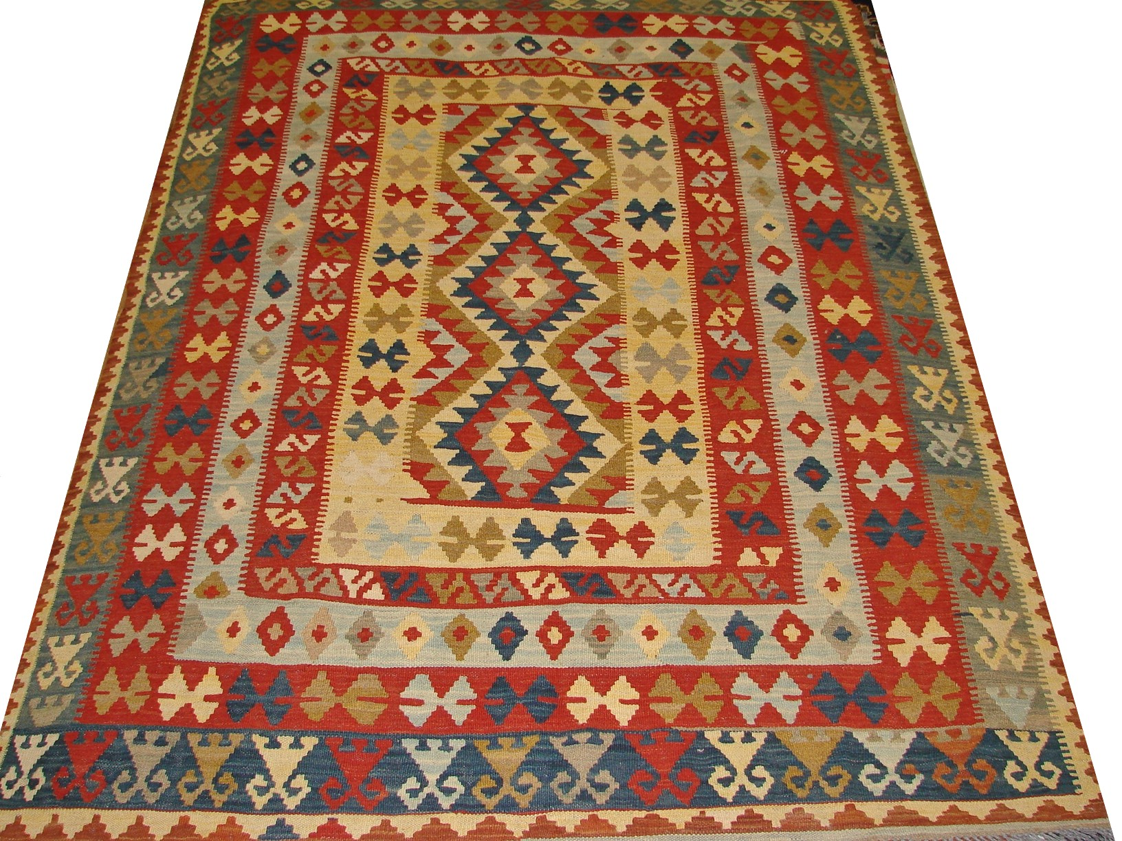 5x7/8 Flat Weave Hand Knotted Wool Area Rug - MR13330