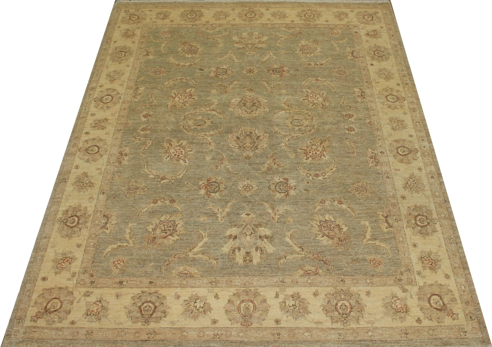 8x10 Peshawar Hand Knotted Wool Area Rug - MR13352