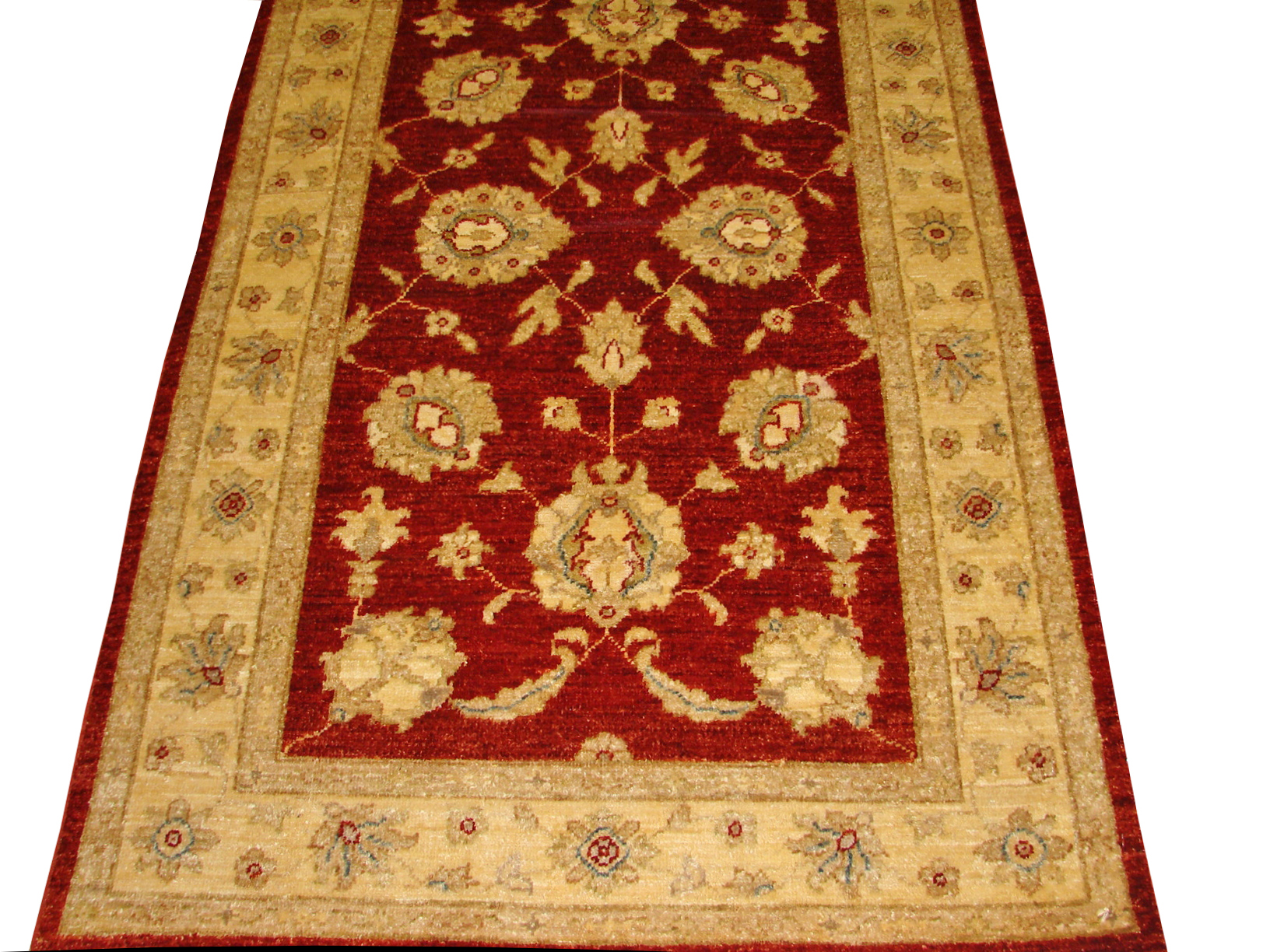 3x5 Peshawar Hand Knotted Wool Area Rug - MR13379