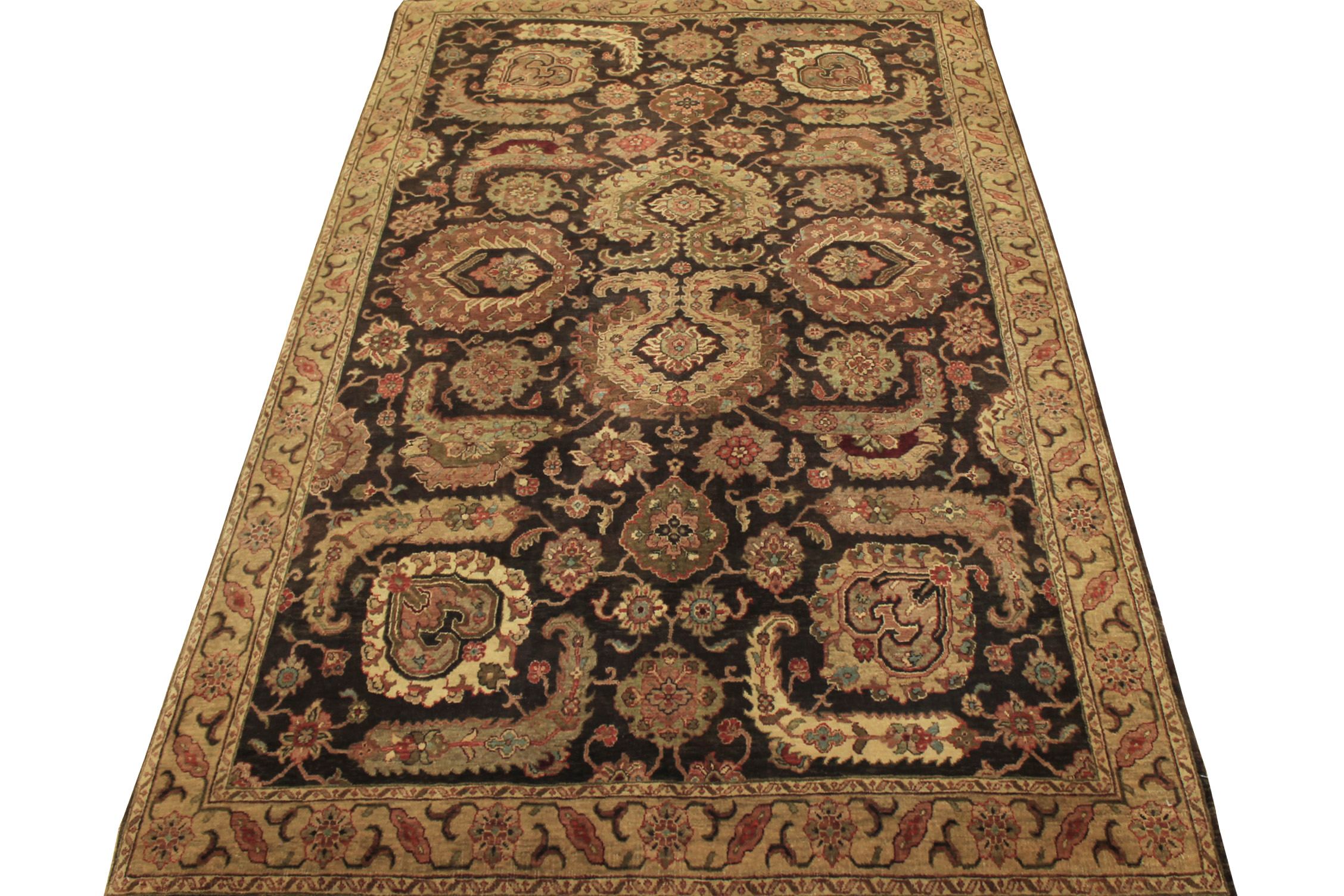 6x9 Antique Revival Hand Knotted Wool Area Rug - MR13425