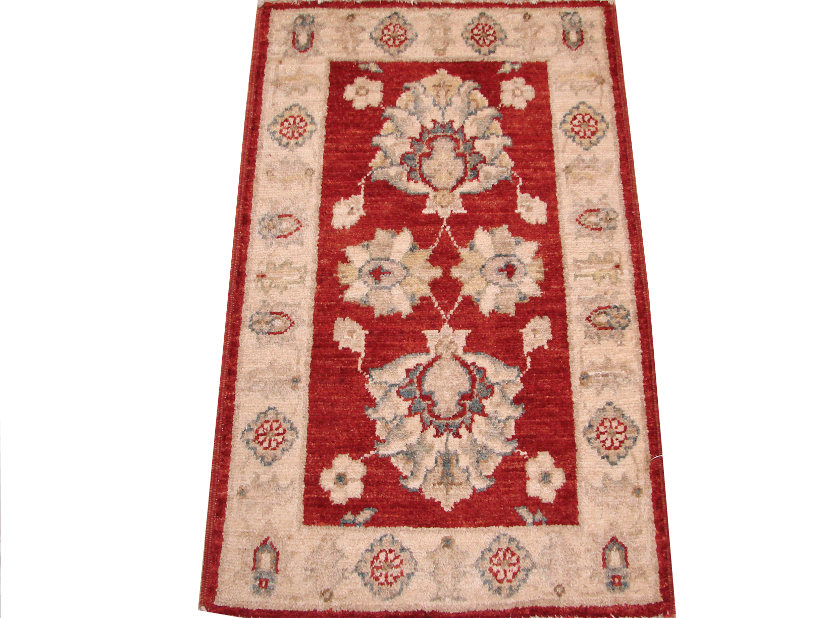 2X3 Peshawar Hand Knotted Wool Area Rug - MR13673