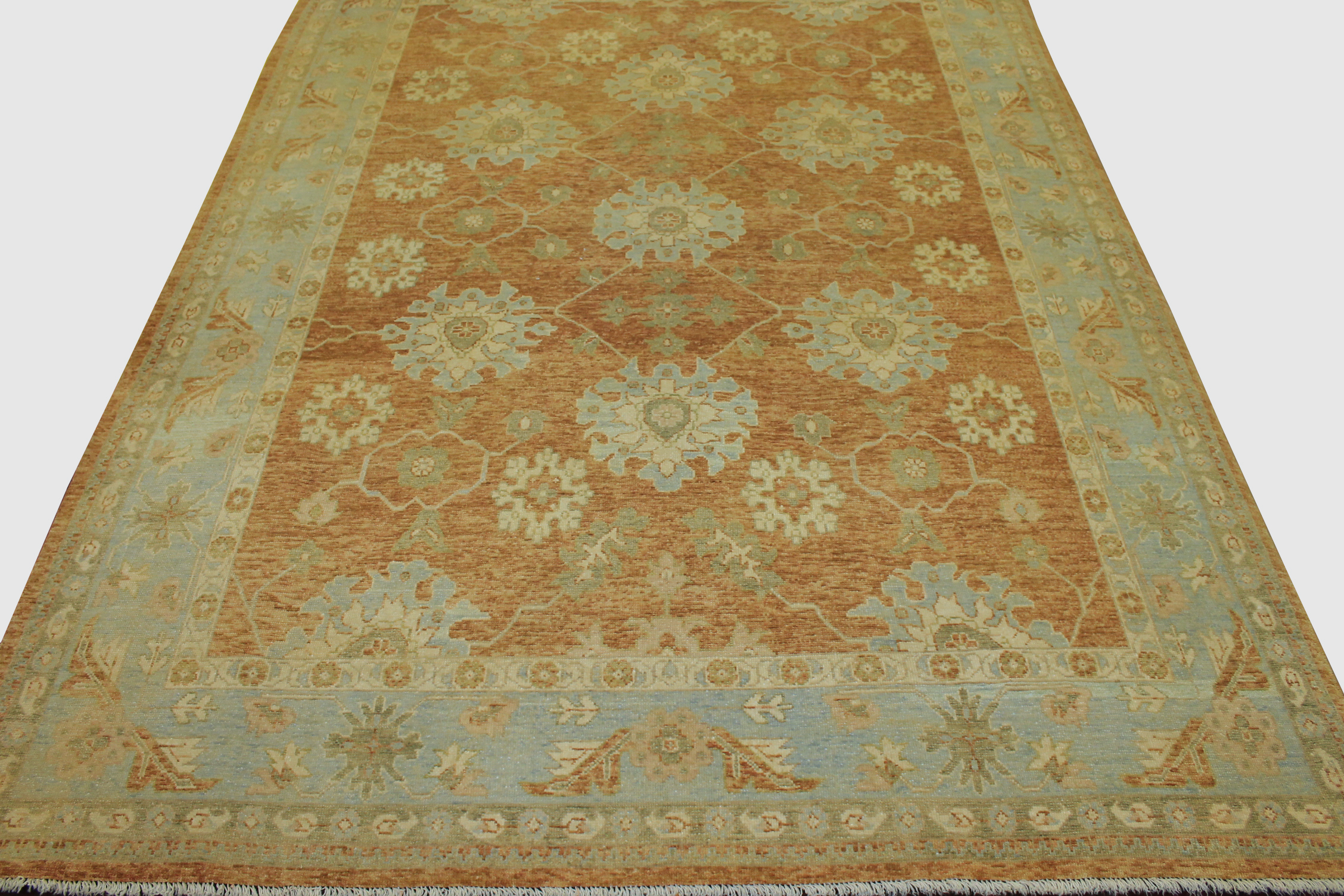 9x12 Oushak Hand Knotted Wool Area Rug - MR13758