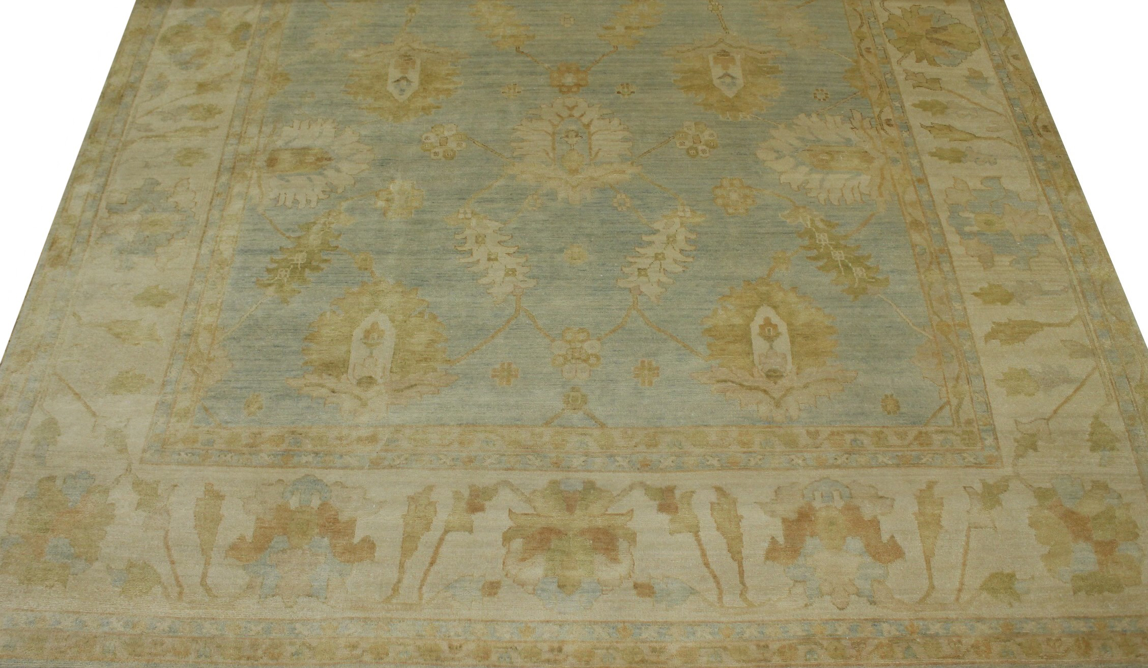 10x14 Oushak Hand Knotted Wool Area Rug - MR13768