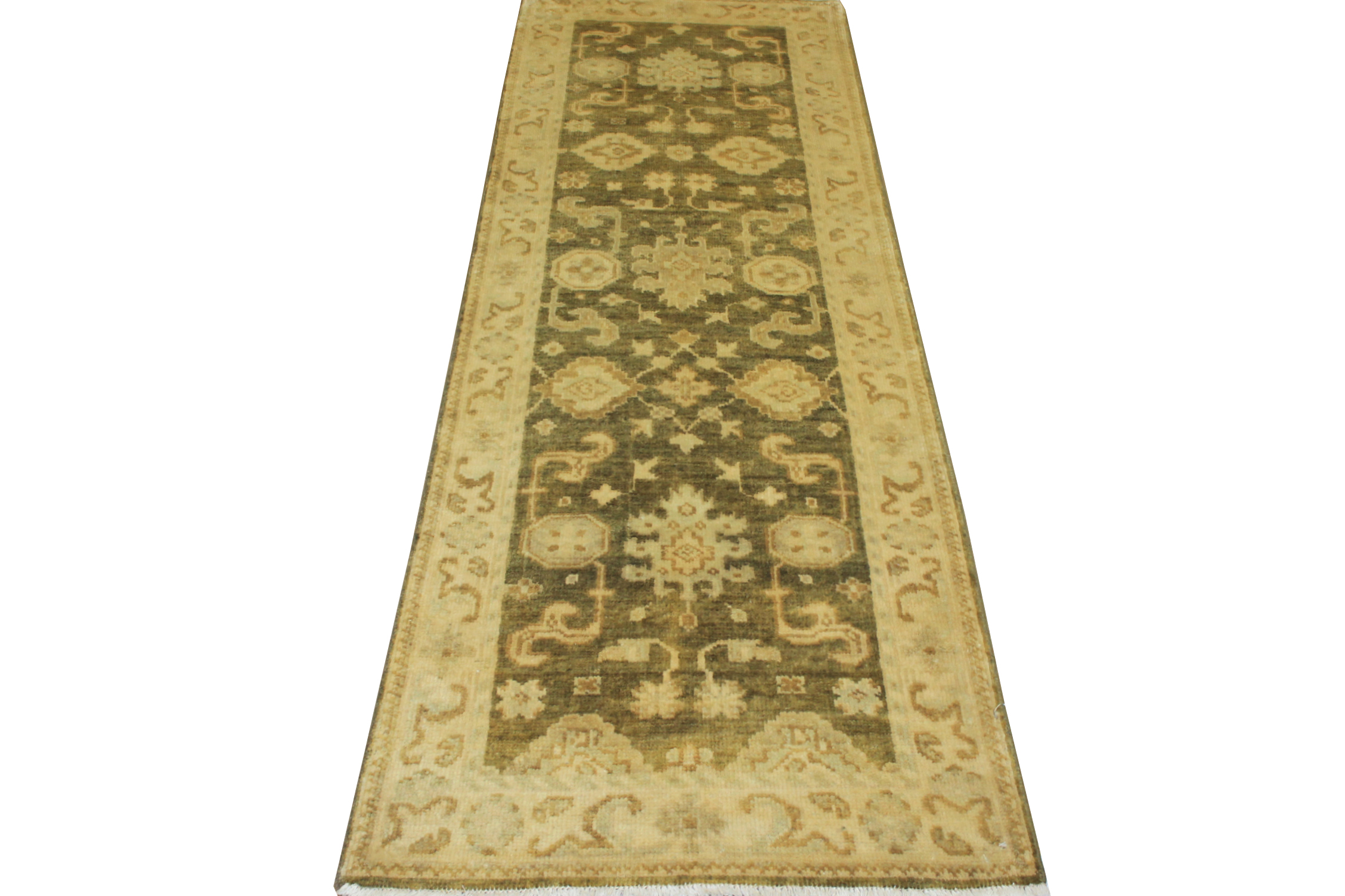 8 ft. Runner Oushak Hand Knotted Wool Area Rug - MR13823
