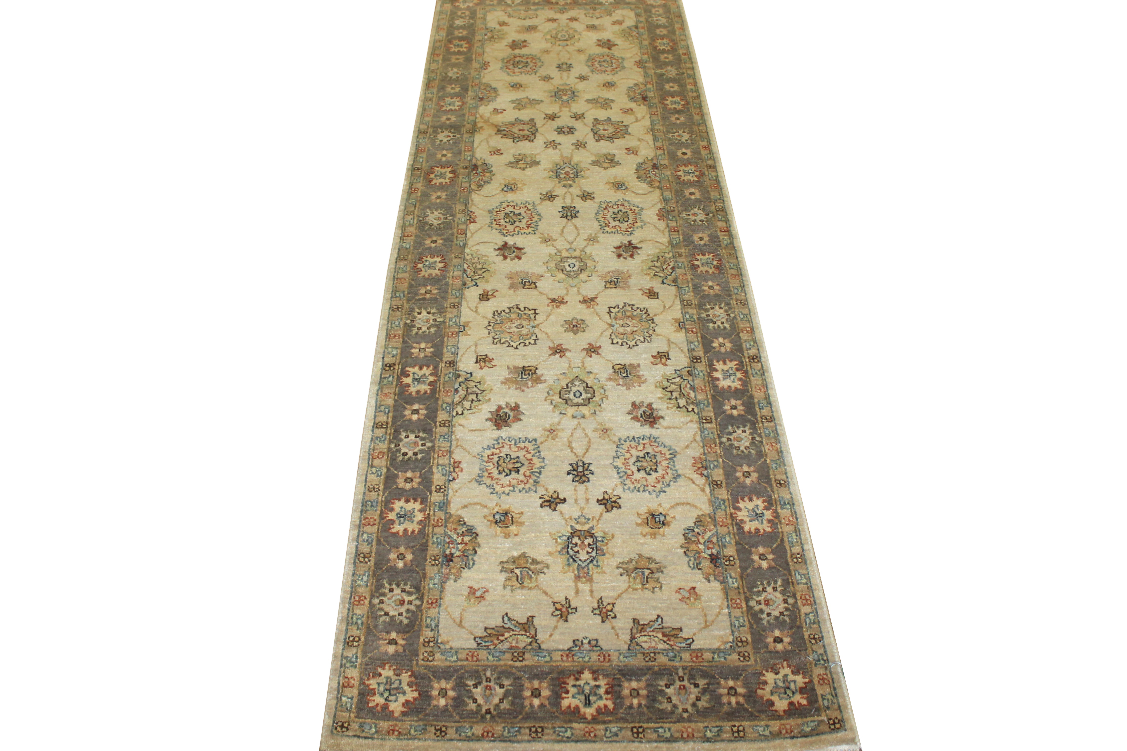 8 ft. Runner Traditional Hand Knotted Wool Area Rug - MR13847