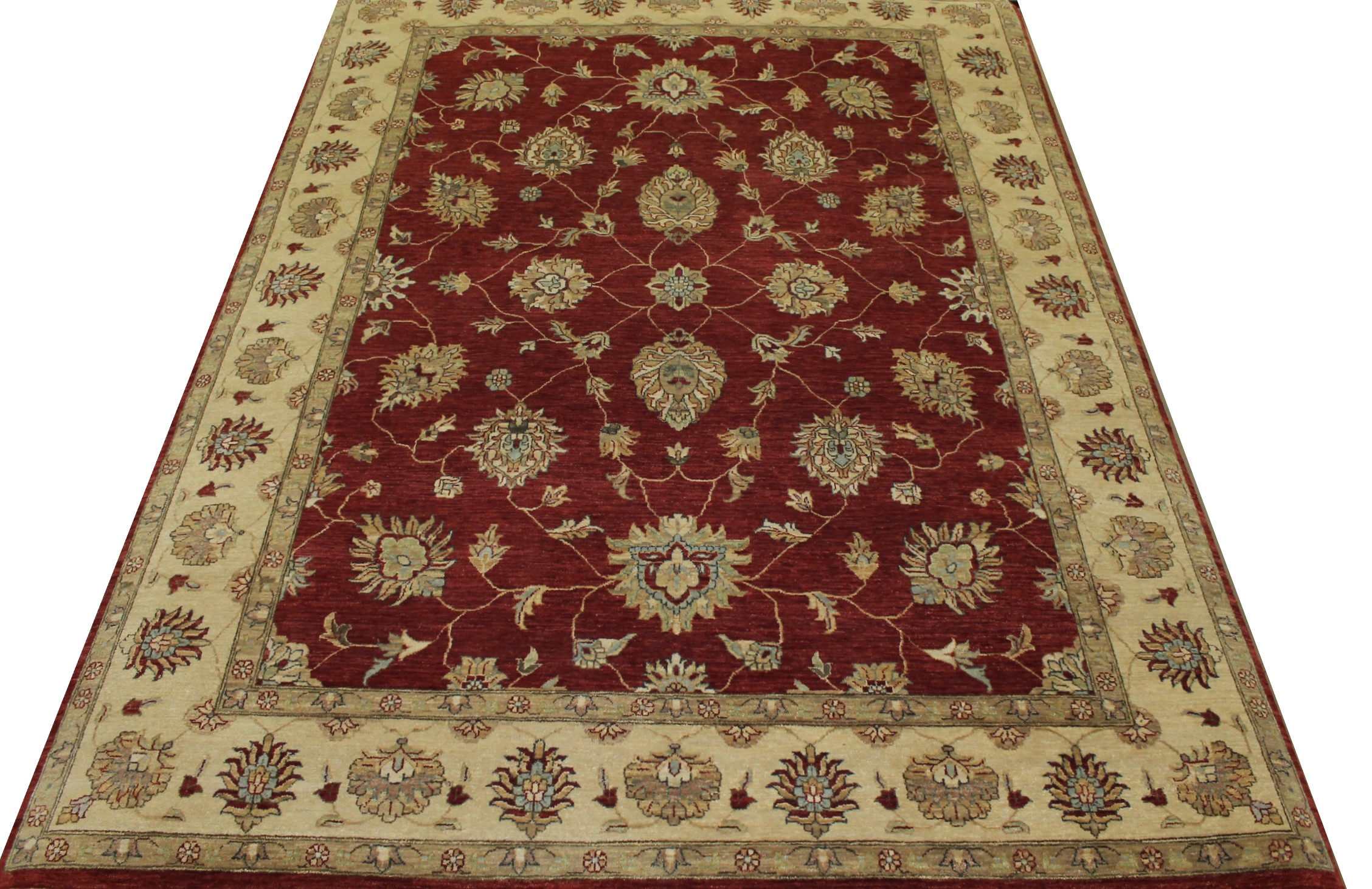 8x10 Traditional Hand Knotted Wool Area Rug - MR13858
