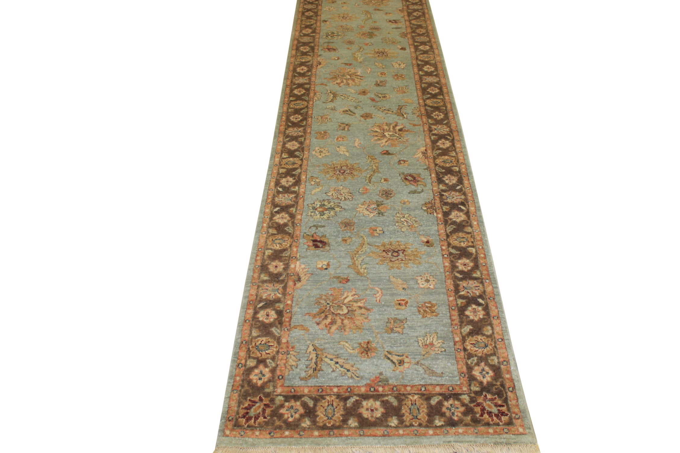 10 ft. Runner Traditional Hand Knotted Wool Area Rug - MR14079