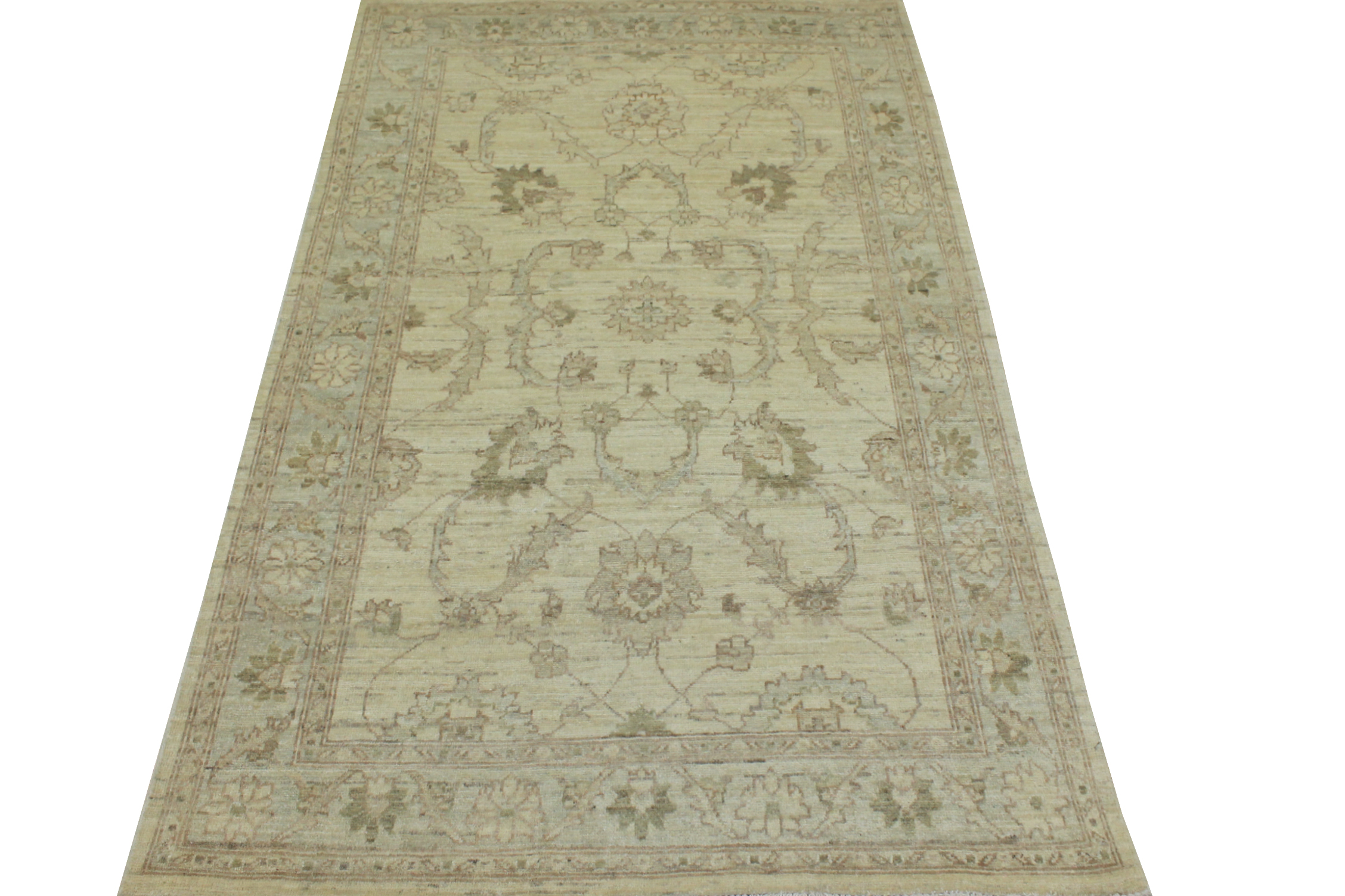 4x6 Peshawar Hand Knotted Wool Area Rug - MR14133